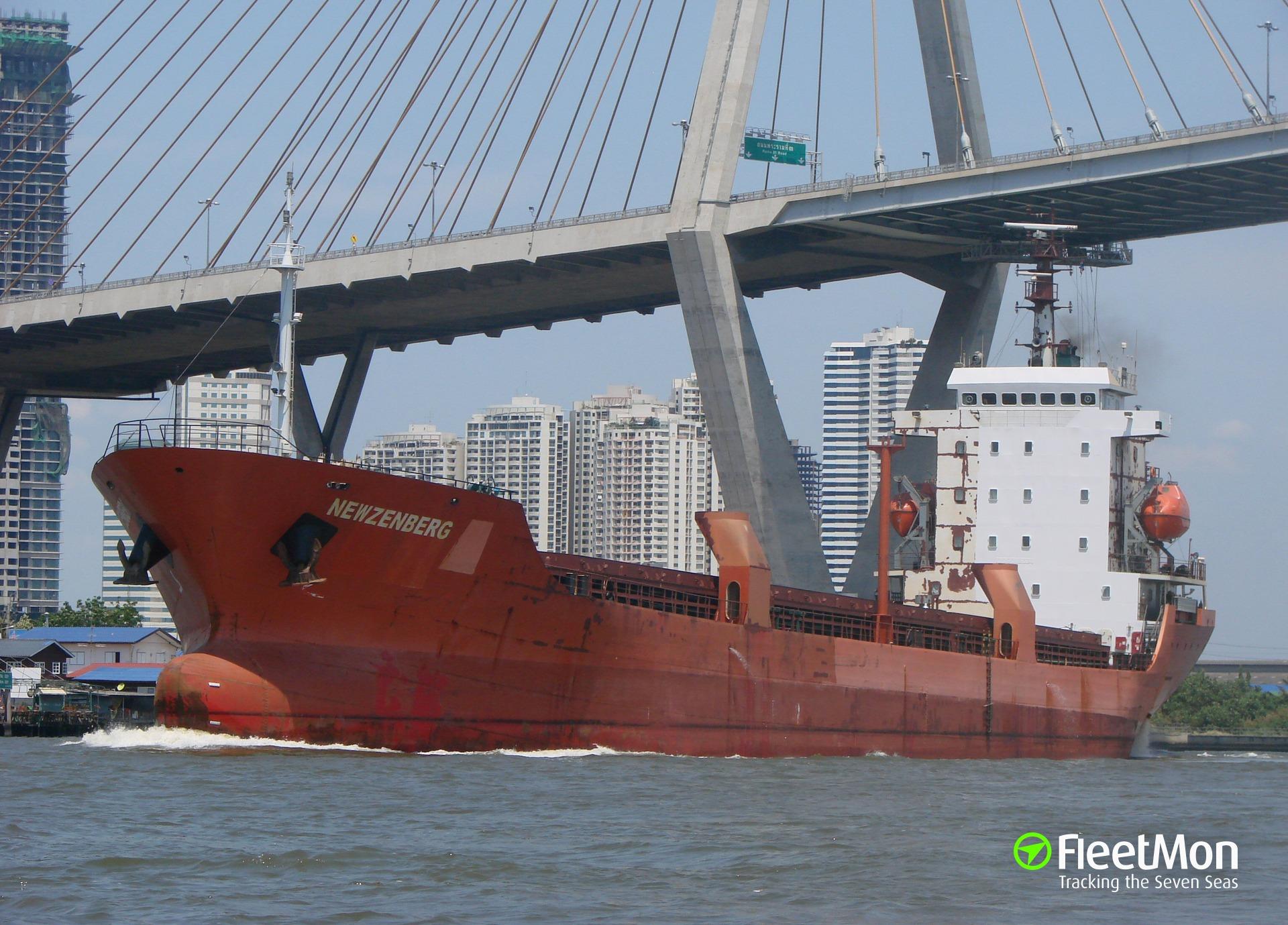 General cargo vessel NEWZENBERG disappeared UPDATE: found
