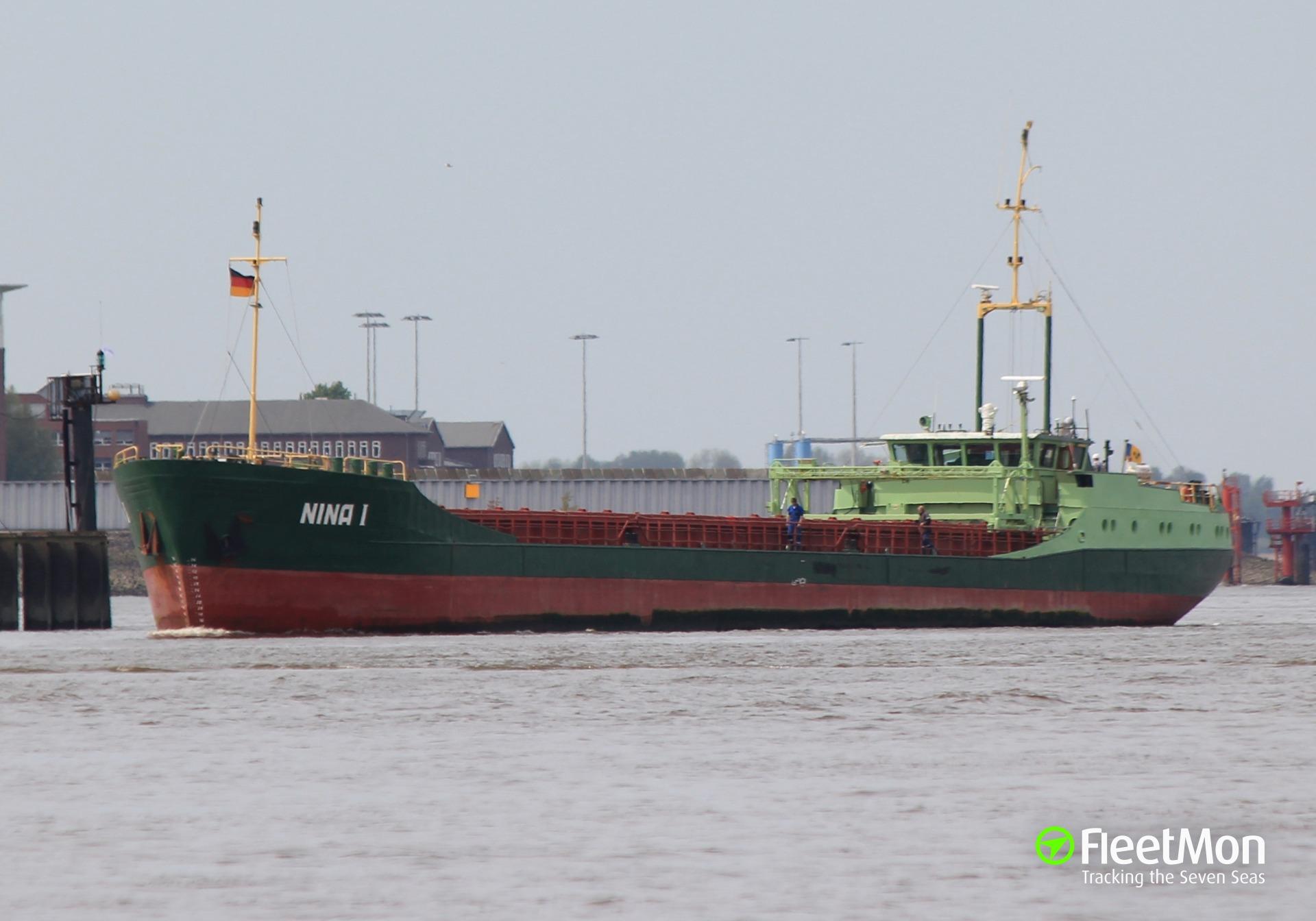 Cargo ship ran aground in North sea