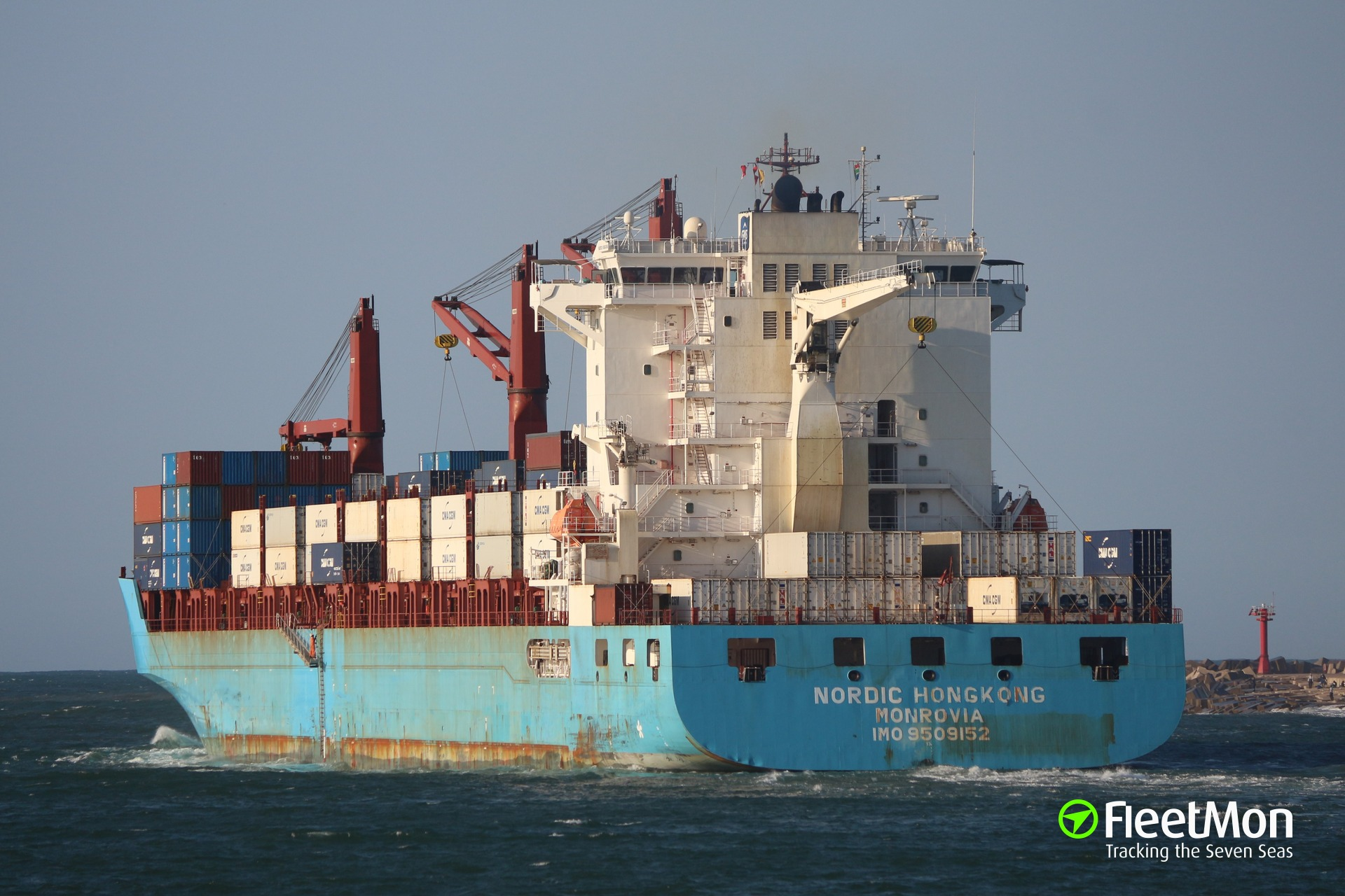 Container ship Nordic Hong Kong grounding