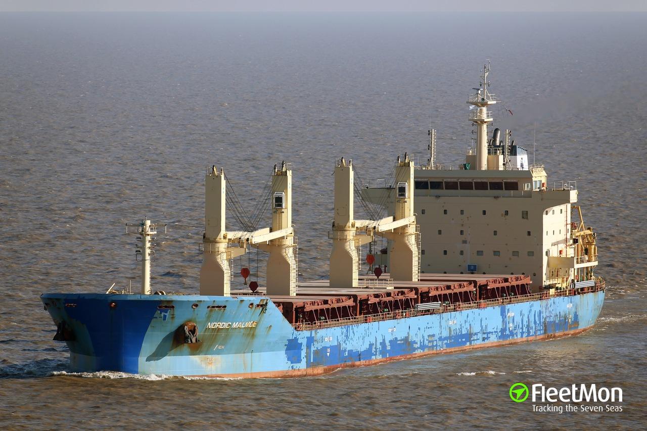 Vessel NORDIC MALMOE (Bulk carrier) IMO 9602679, MMSI 636092675