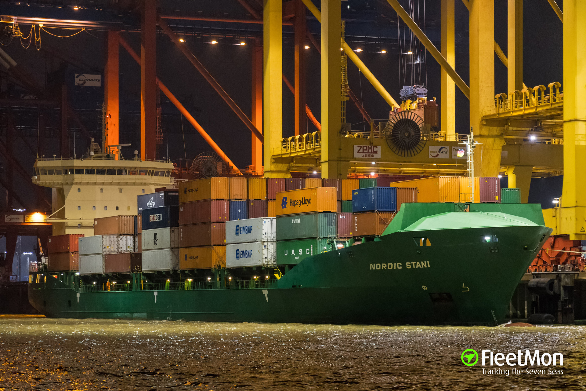 Boxship Nordic Stani grounding, Elbe