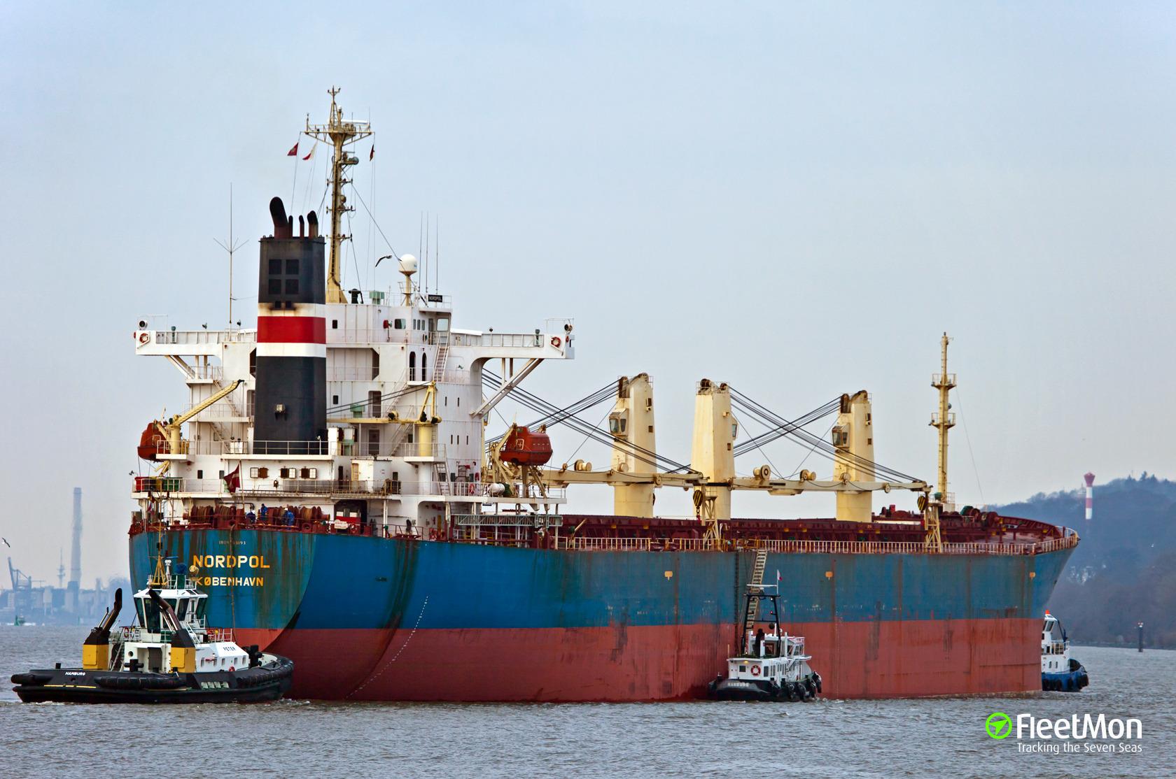 Danish bulk carrier Nordpol called Halifax with damaged propeller