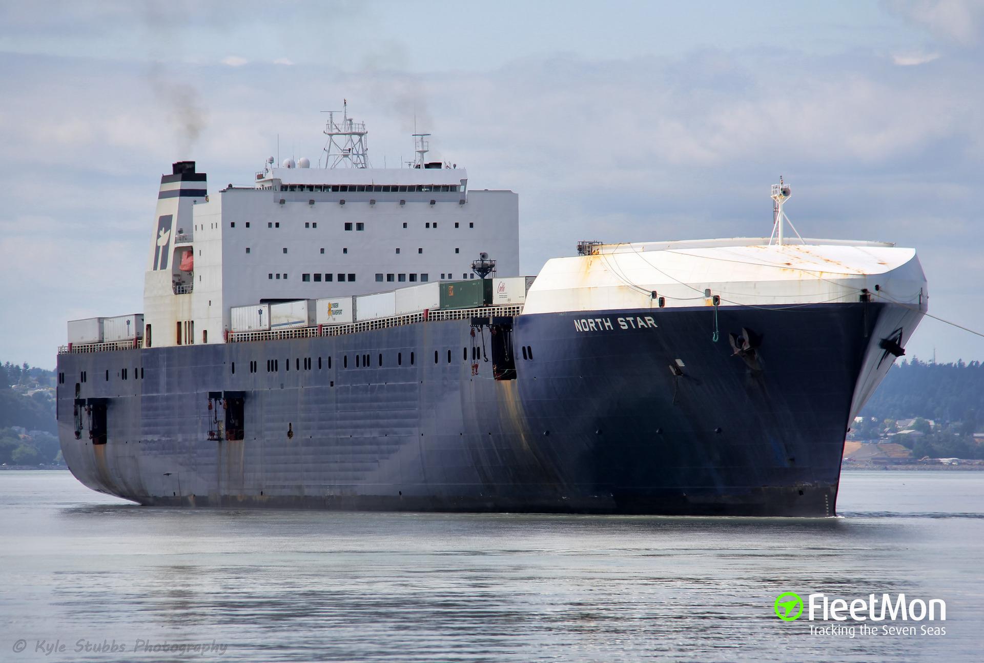 US ro-ro cargo ship NORTHSTAR disabled, drifting off British Columbia coast