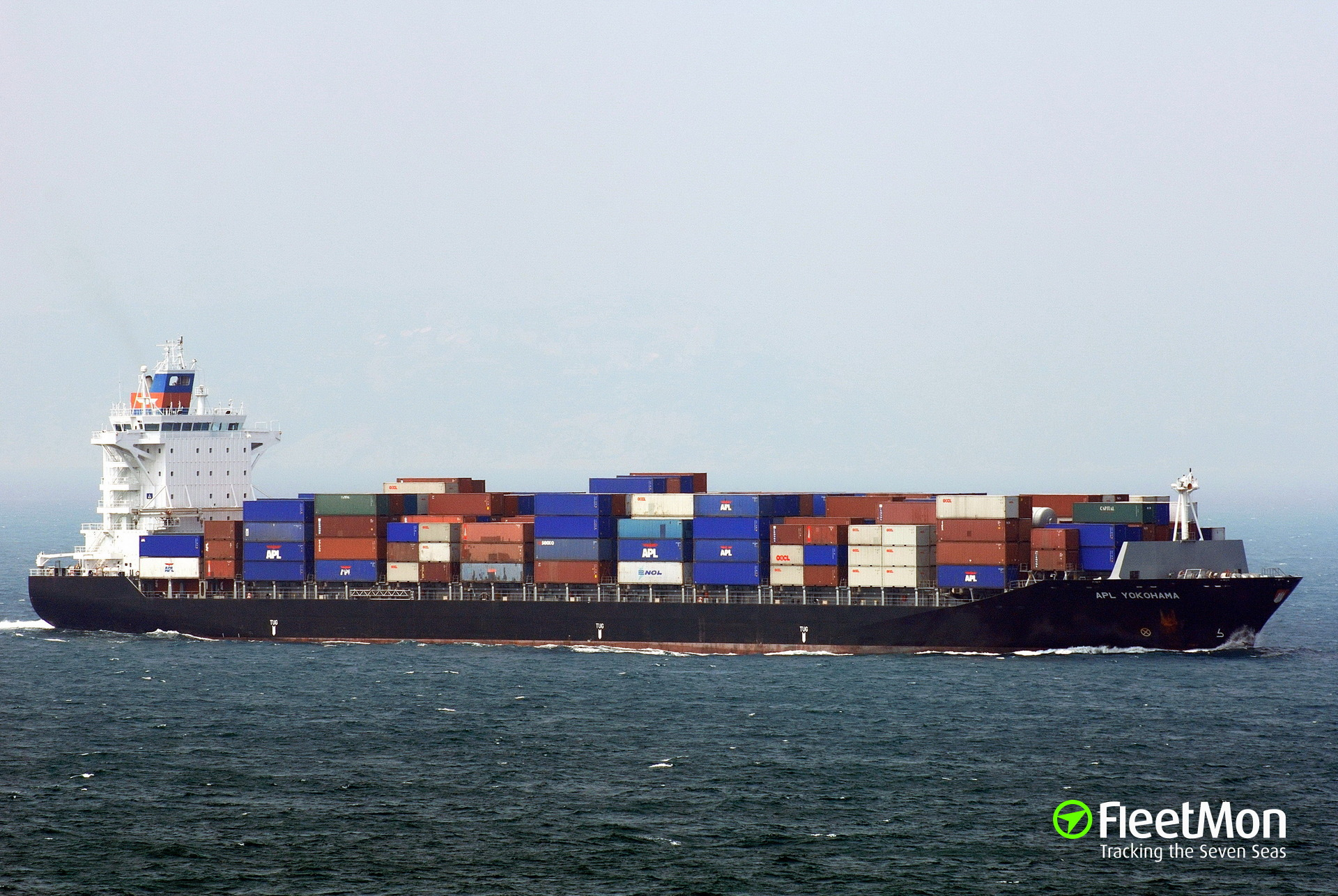 Containers on fire on boxship NORTHERN VOLITION, South China sea