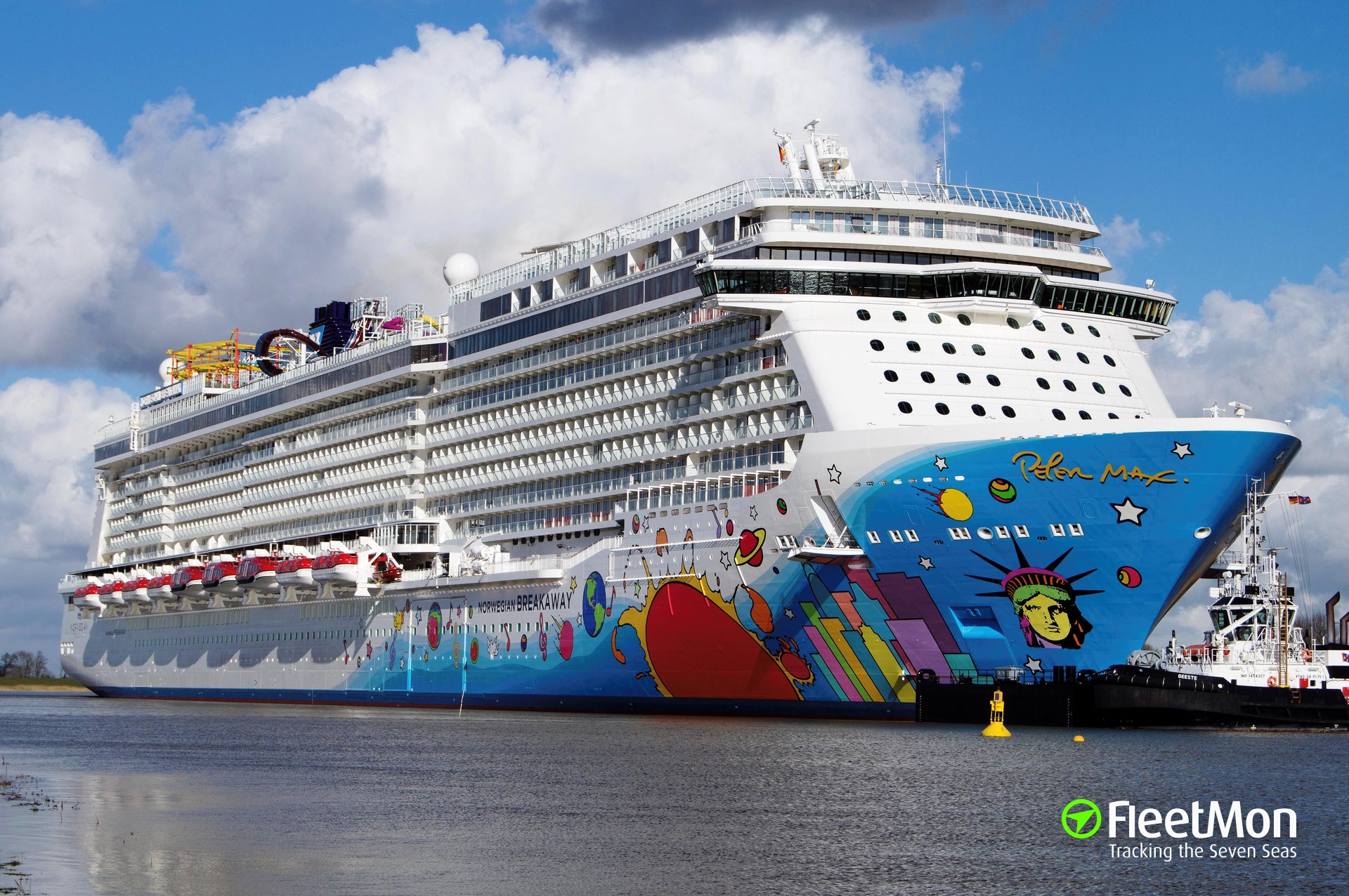 NORWEGIAN BREAKAWAY leaves Meyer Yard
