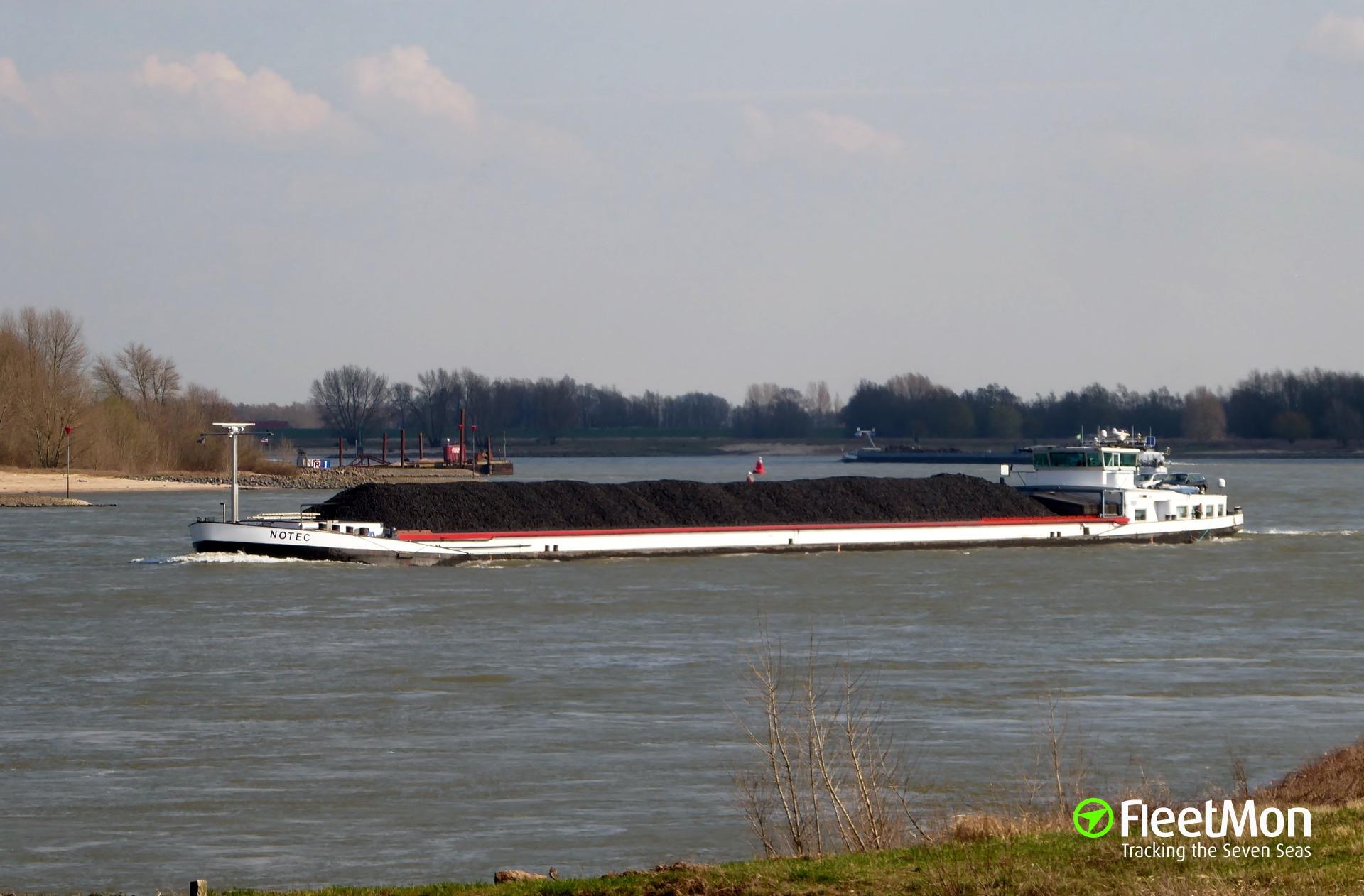 Belgium cargo vessel aground at Dunkirk