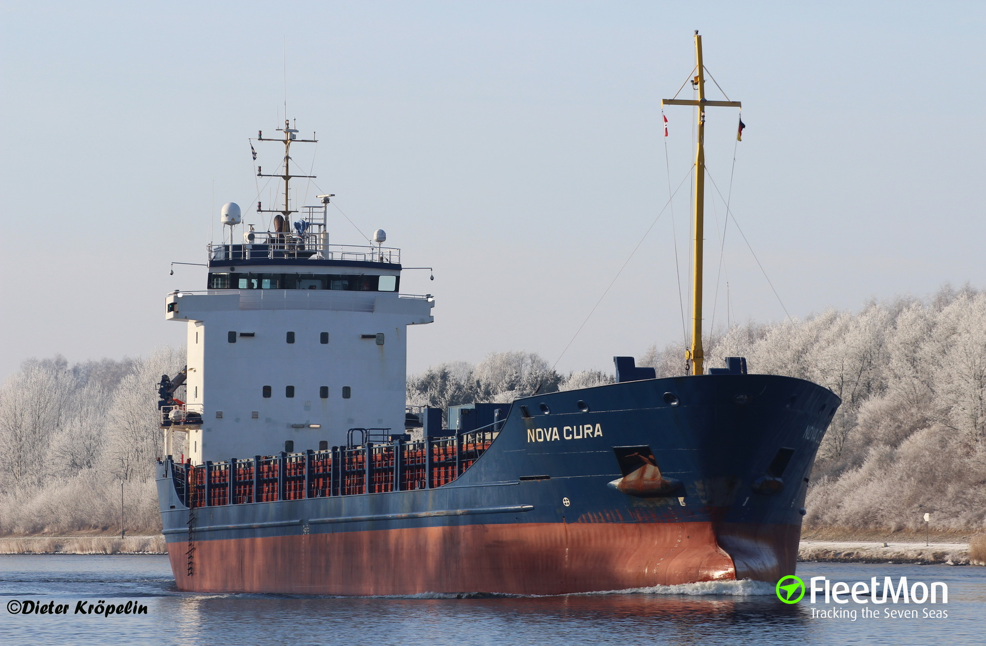 Dutch freighter NOVA CURA refloated: UPDATE
