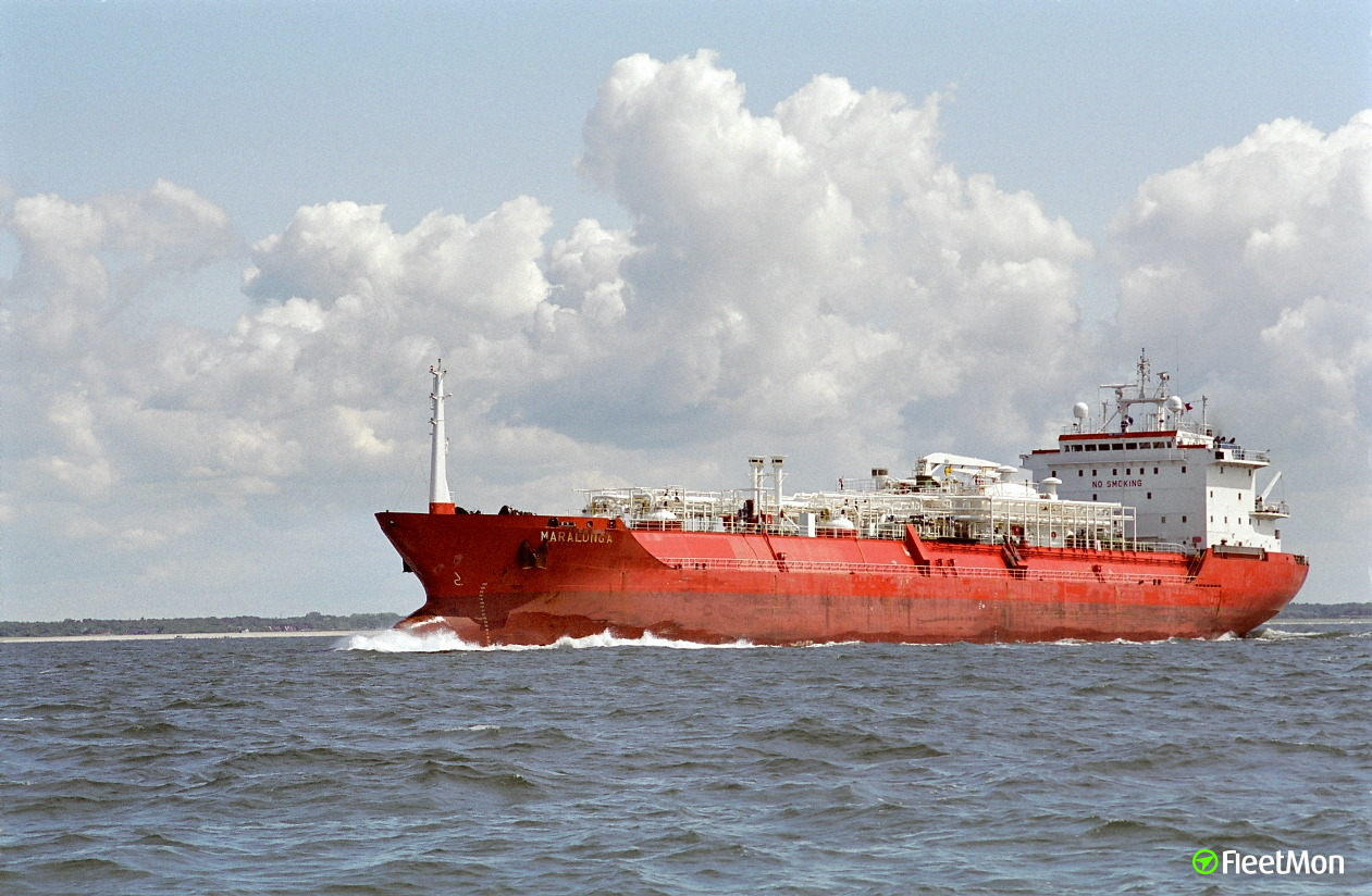 LPG tanker NUSA BINTANG explosion, two crew severely burned