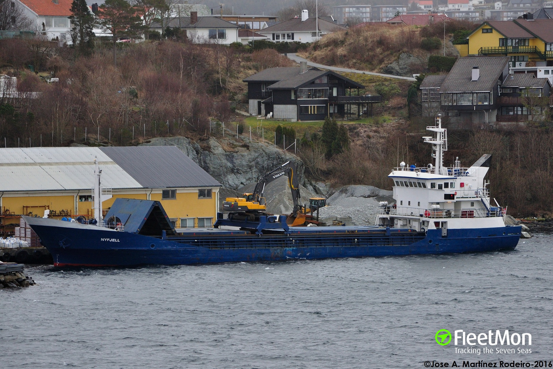 General cargo vessel NYFJELL grounding, Norway
