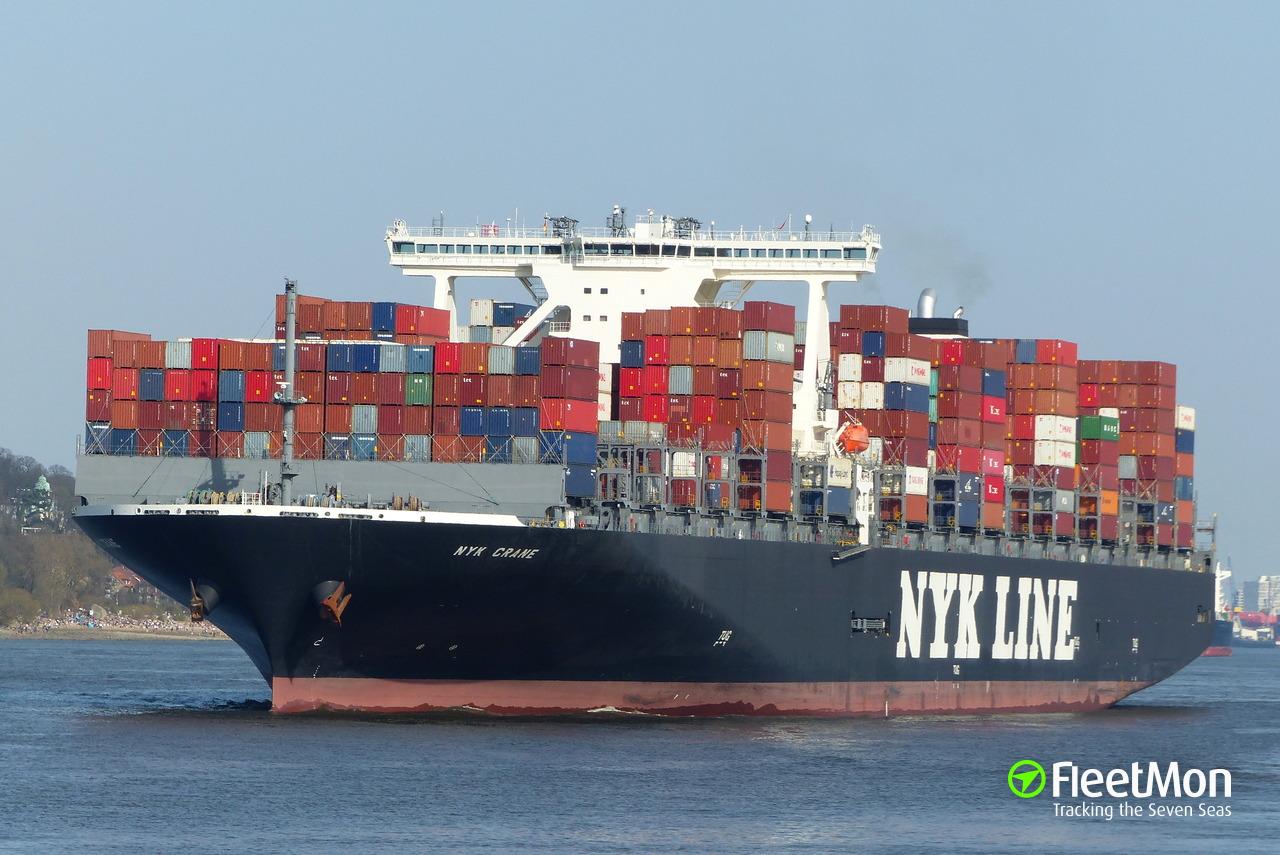 Vessel NYK CRANE (Container ship) IMO 9741401, MMSI 370651000