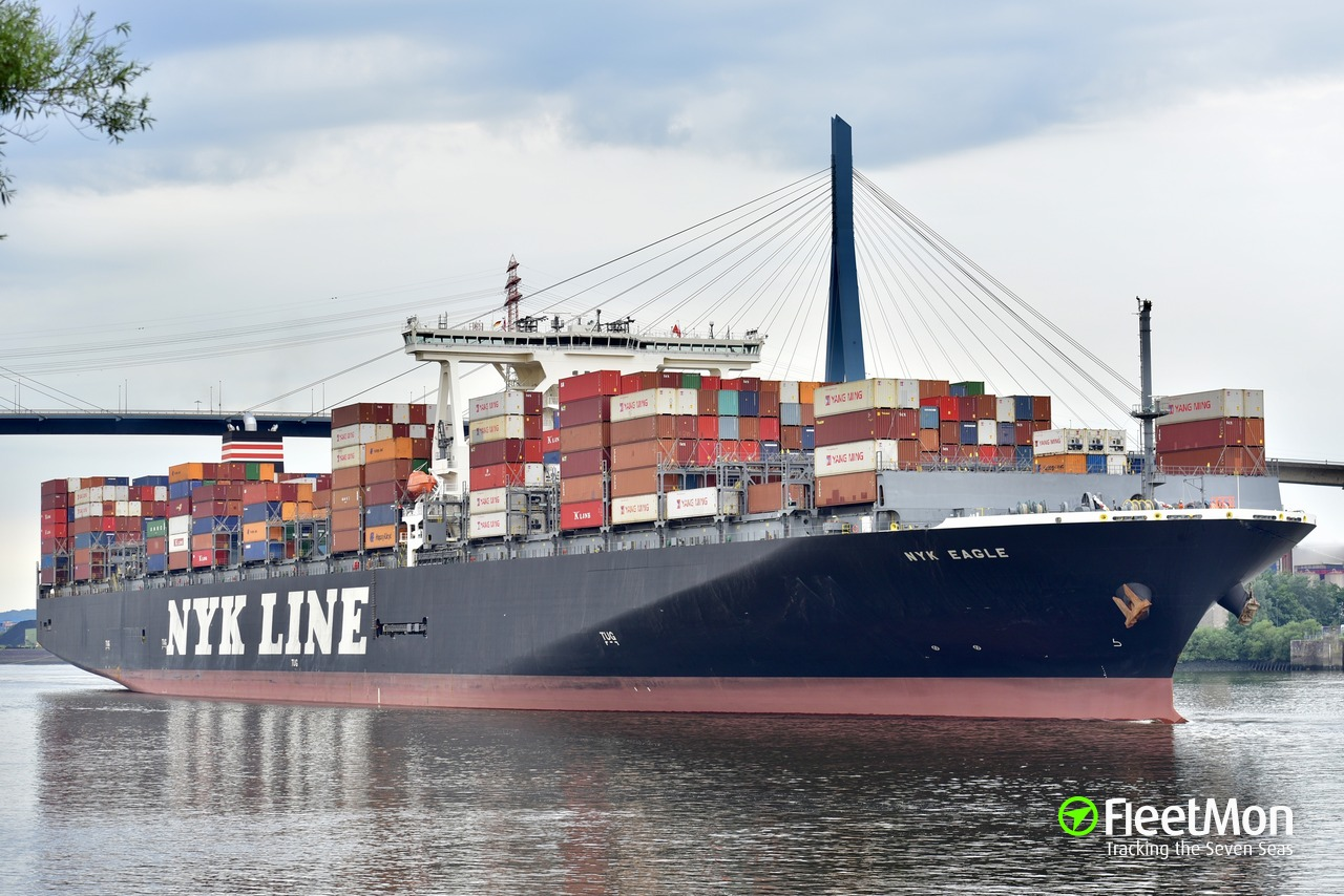 Vessel NYK EAGLE (Container ship) IMO 9741396, MMSI 371425000