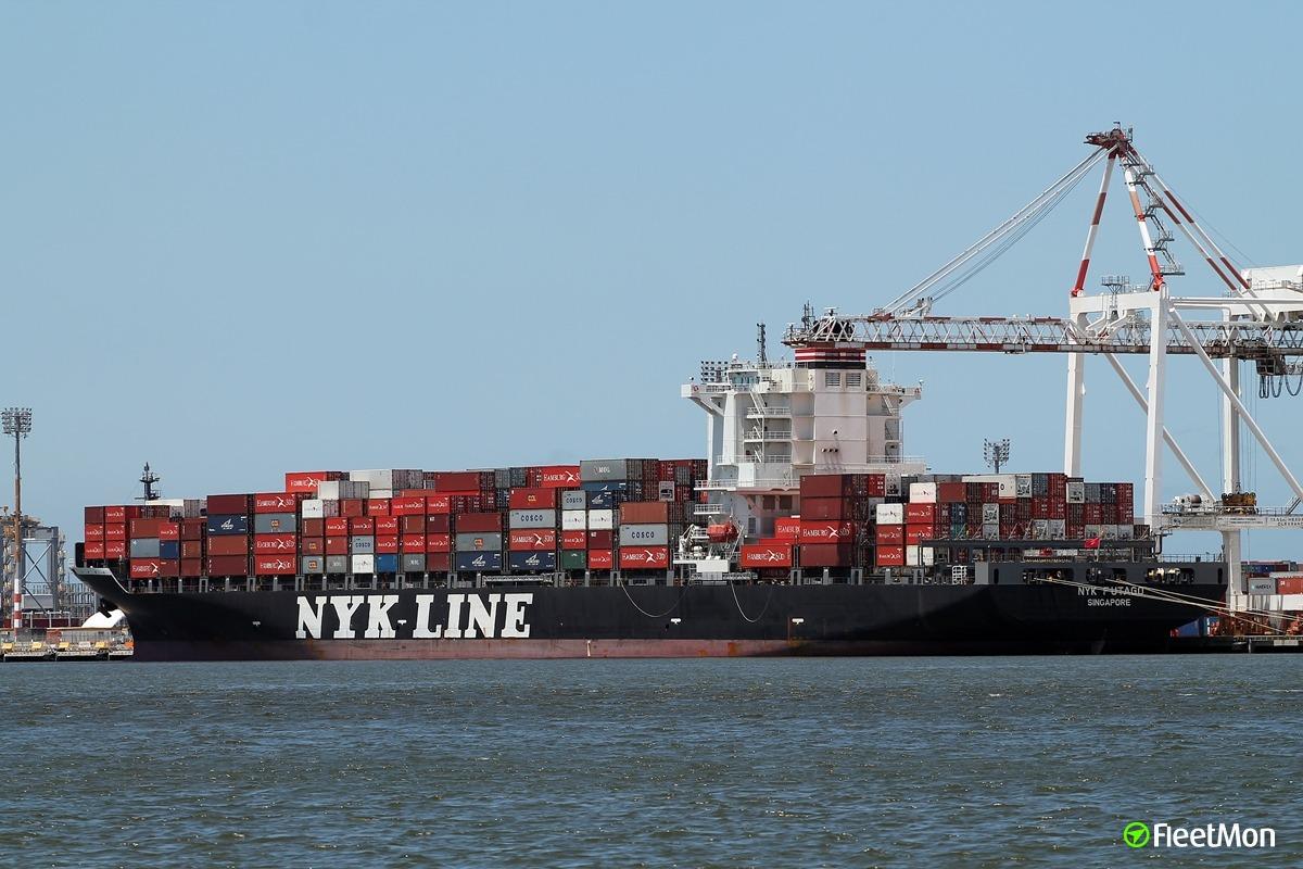 Vessel NYK FUTAGO (Container ship) IMO 9487524, MMSI 566002000