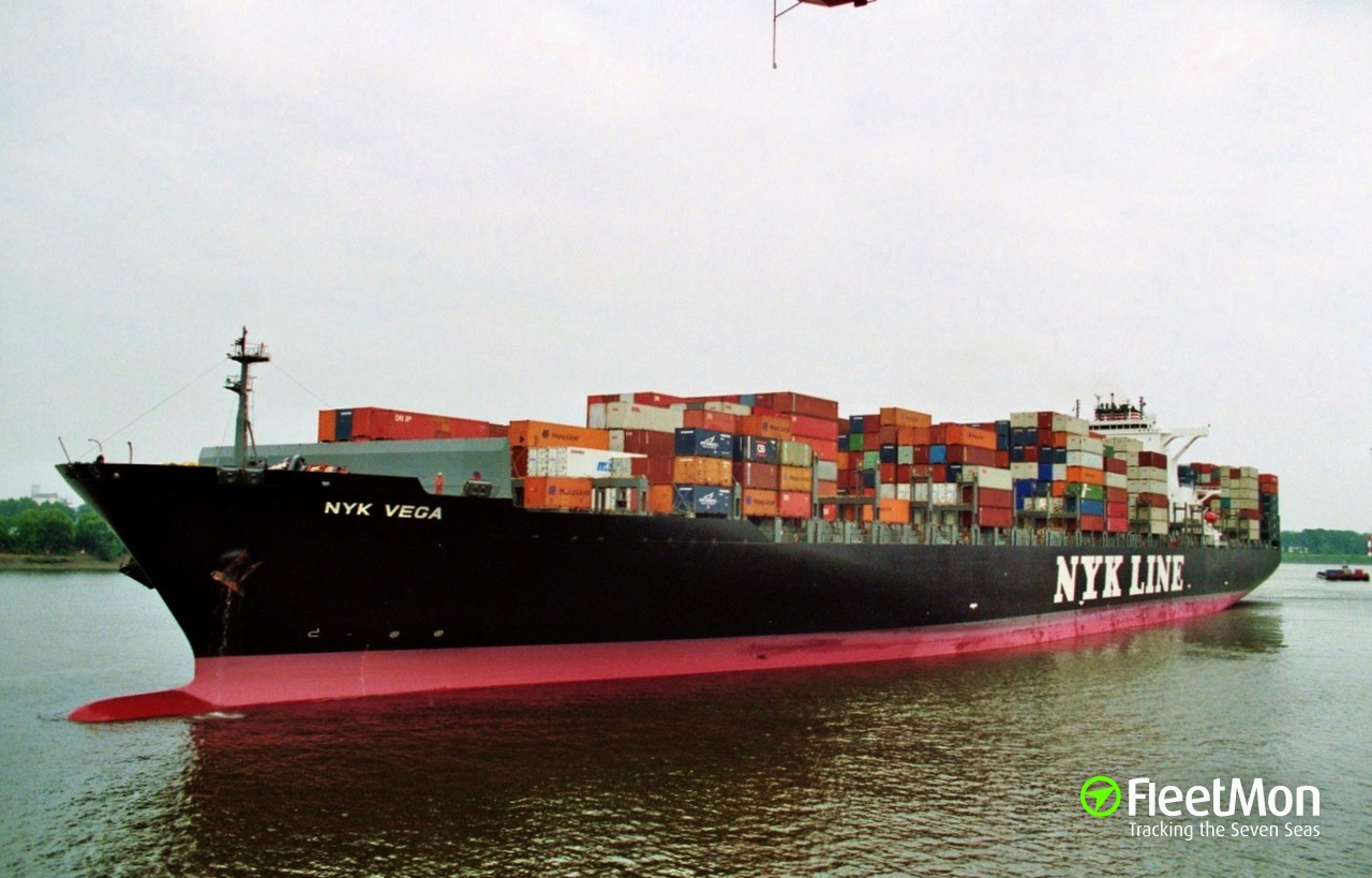 Vessel NYK VEGA (Container ship) IMO 9312781, MMSI 372218000