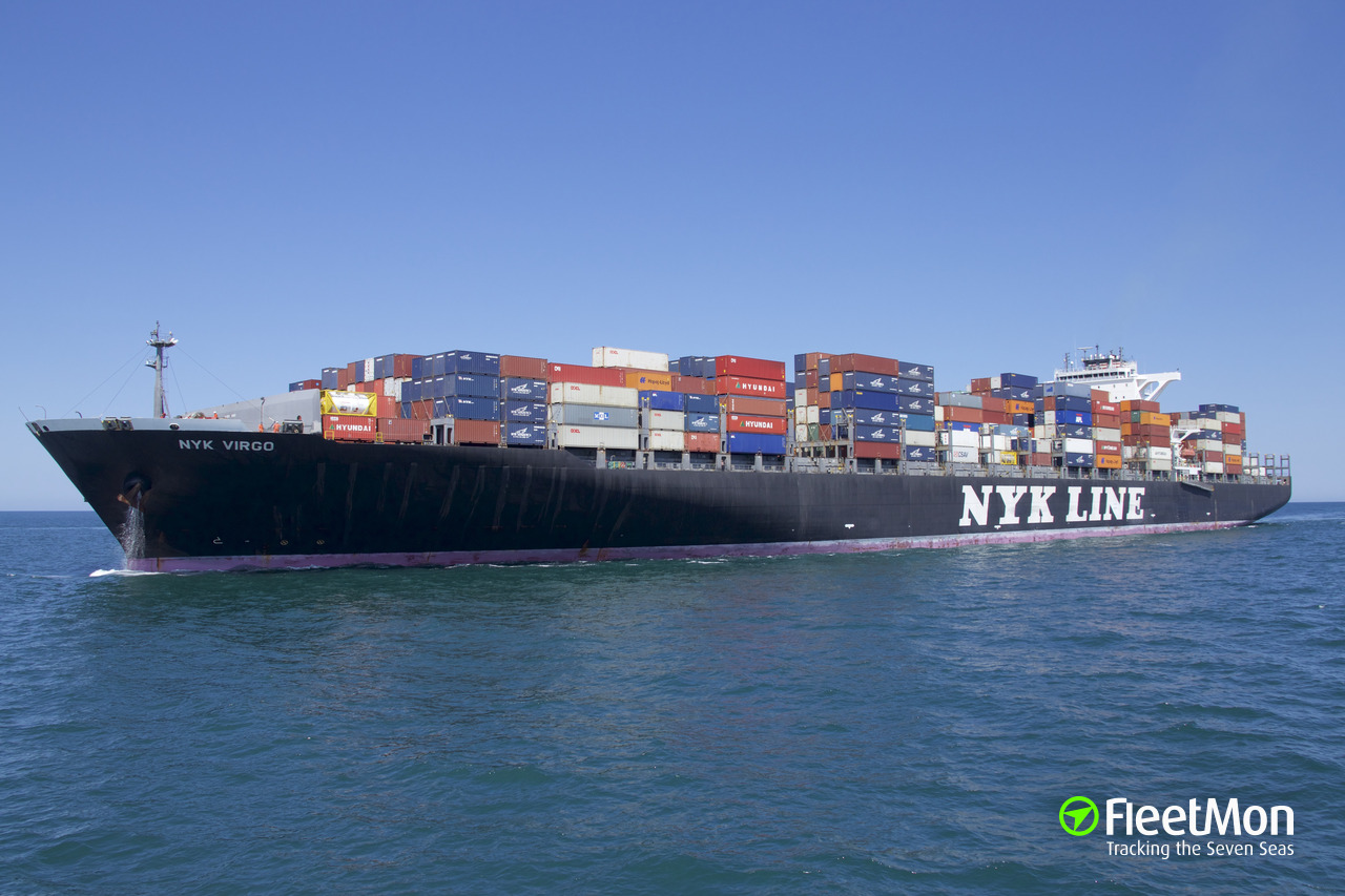 Vessel NYK VIRGO (Container ship) IMO 9312810, MMSI 563025600