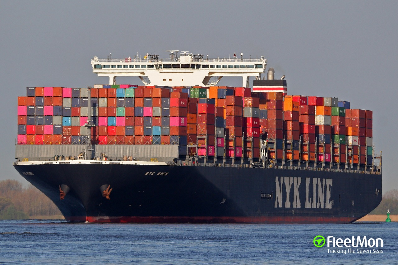 Vessel NYK WREN (Container ship) IMO 9784776, MMSI 431888000