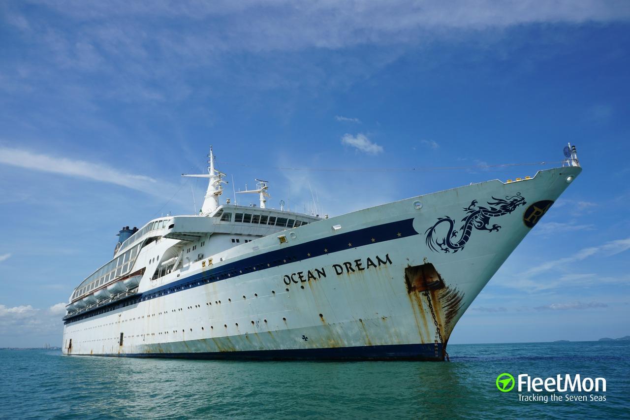 Cruise Ship OCEAN DREAM Capsized And Sank Laem Chabang - Sunken cruise ships