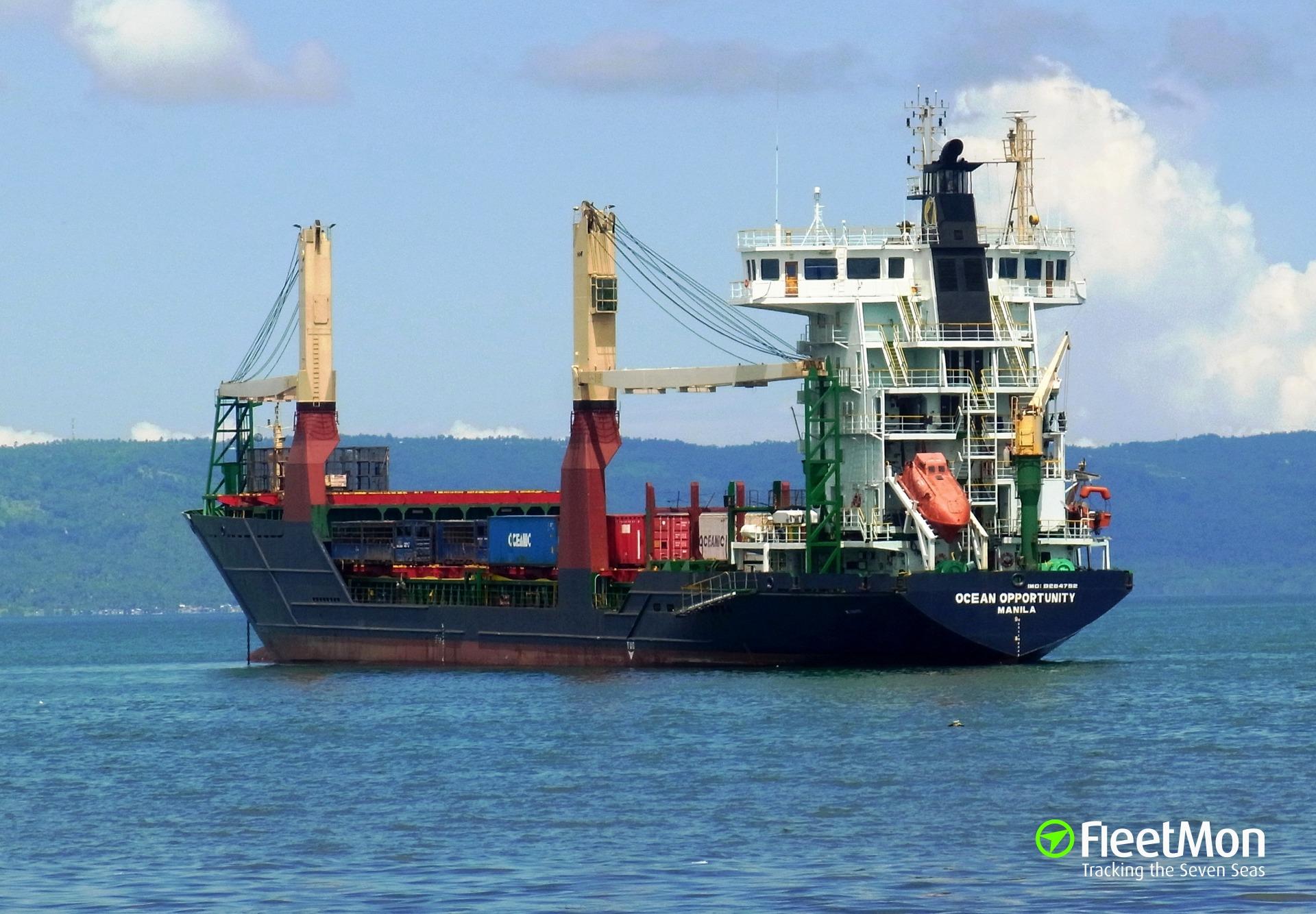 Yolanda grounded boxship Schelde Trader and two barges, Cebu