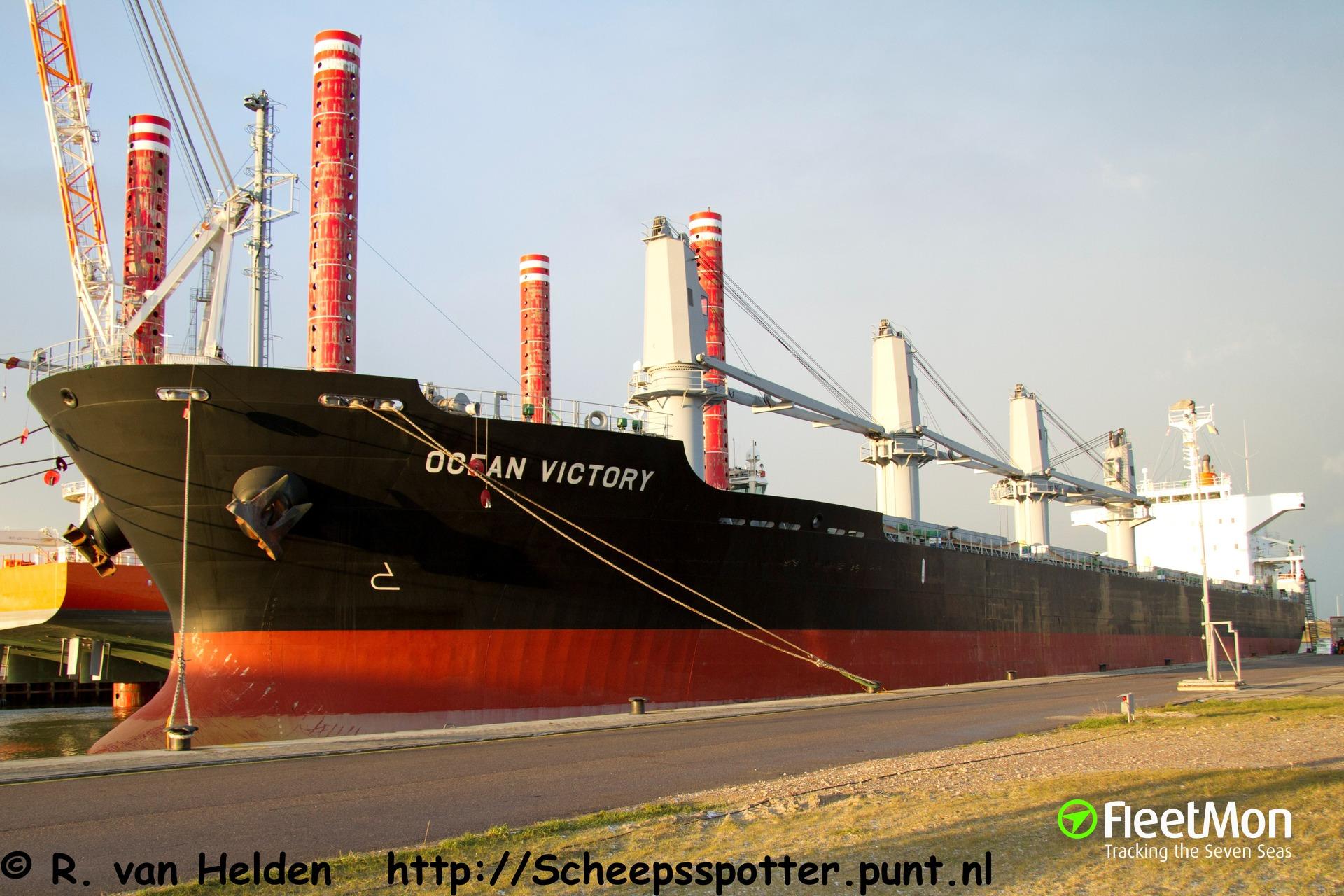 Taiwanese bulk carrier Ocean Victory in distress off Dutch coast, North sea