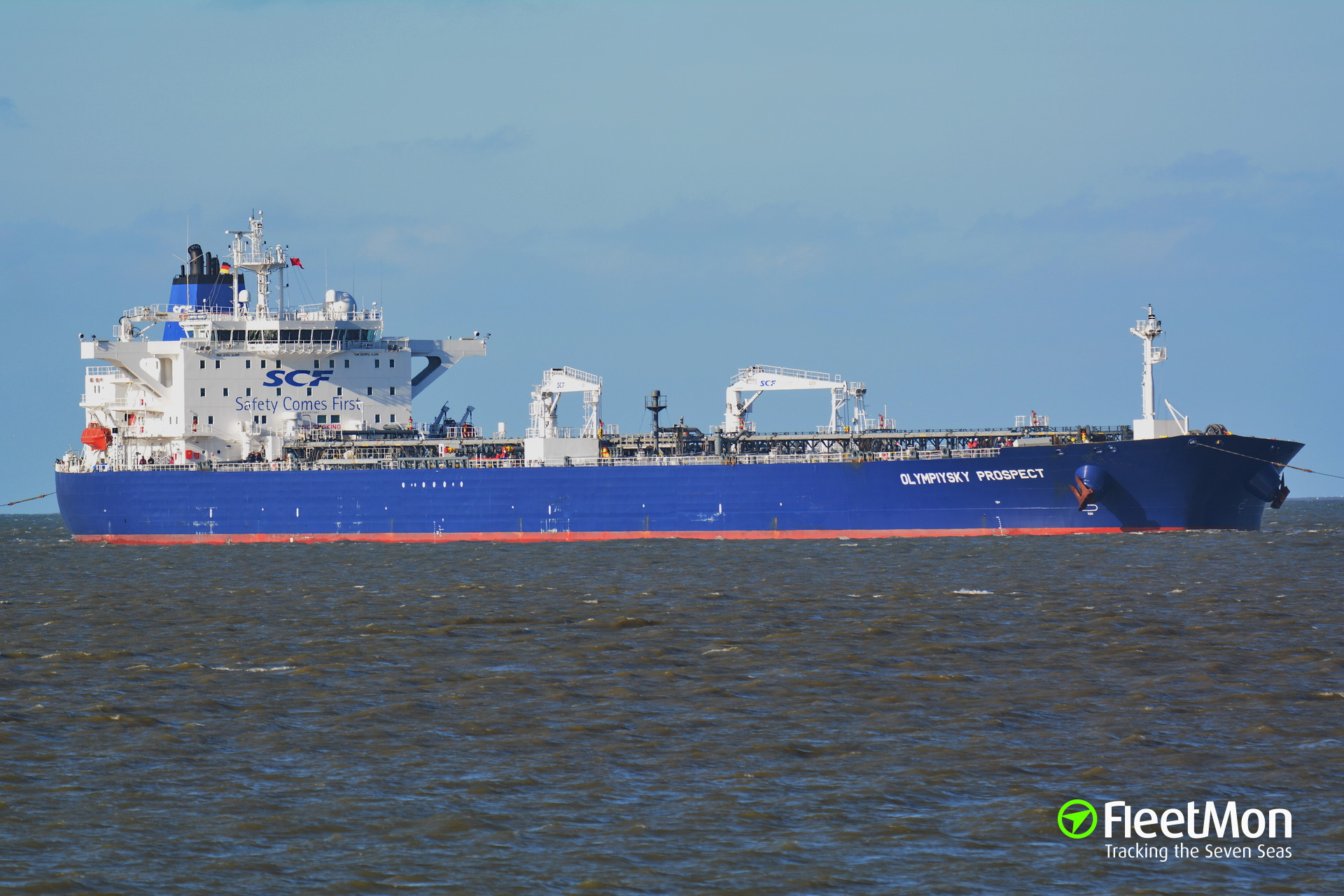 Disabled SCF tanker Olympiyskiy Prospect towed to Le Havre