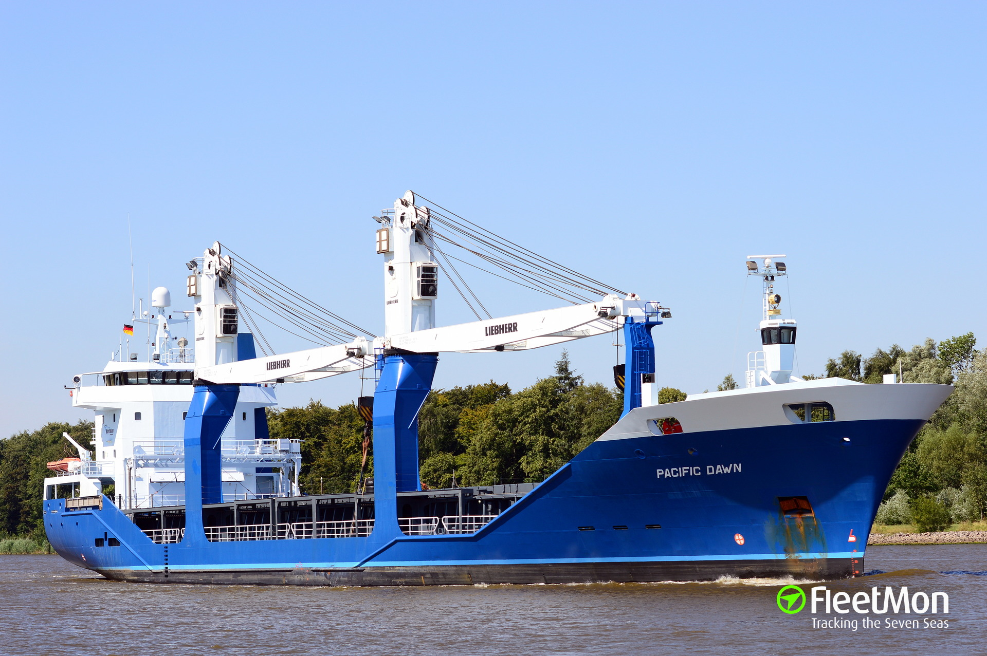 PACIFIC DAWN troubled off Harlingen