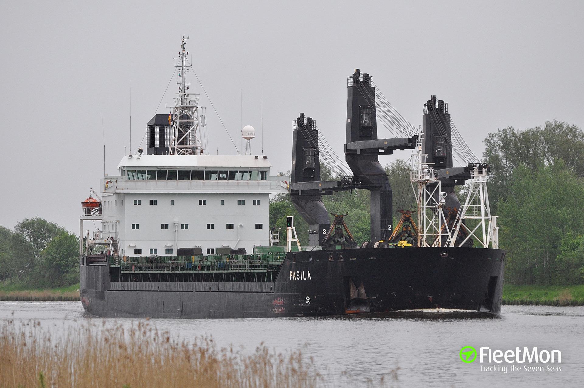 General cargo vessel Pasila grounding