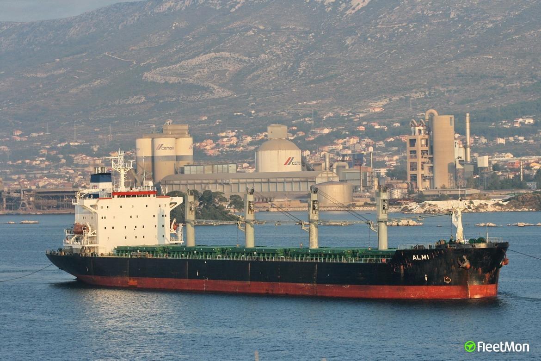 Bulk carrier AK Ceren aground, Turkey
