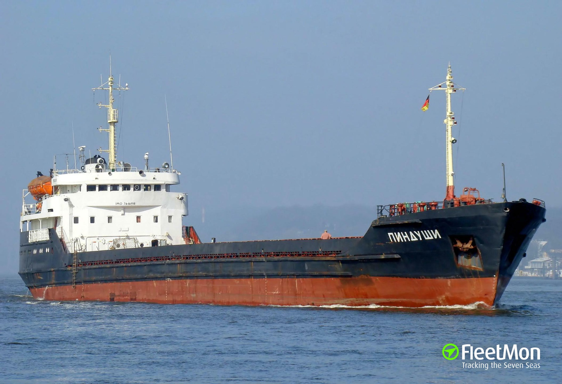 General cargo vessel Pindushi aground
