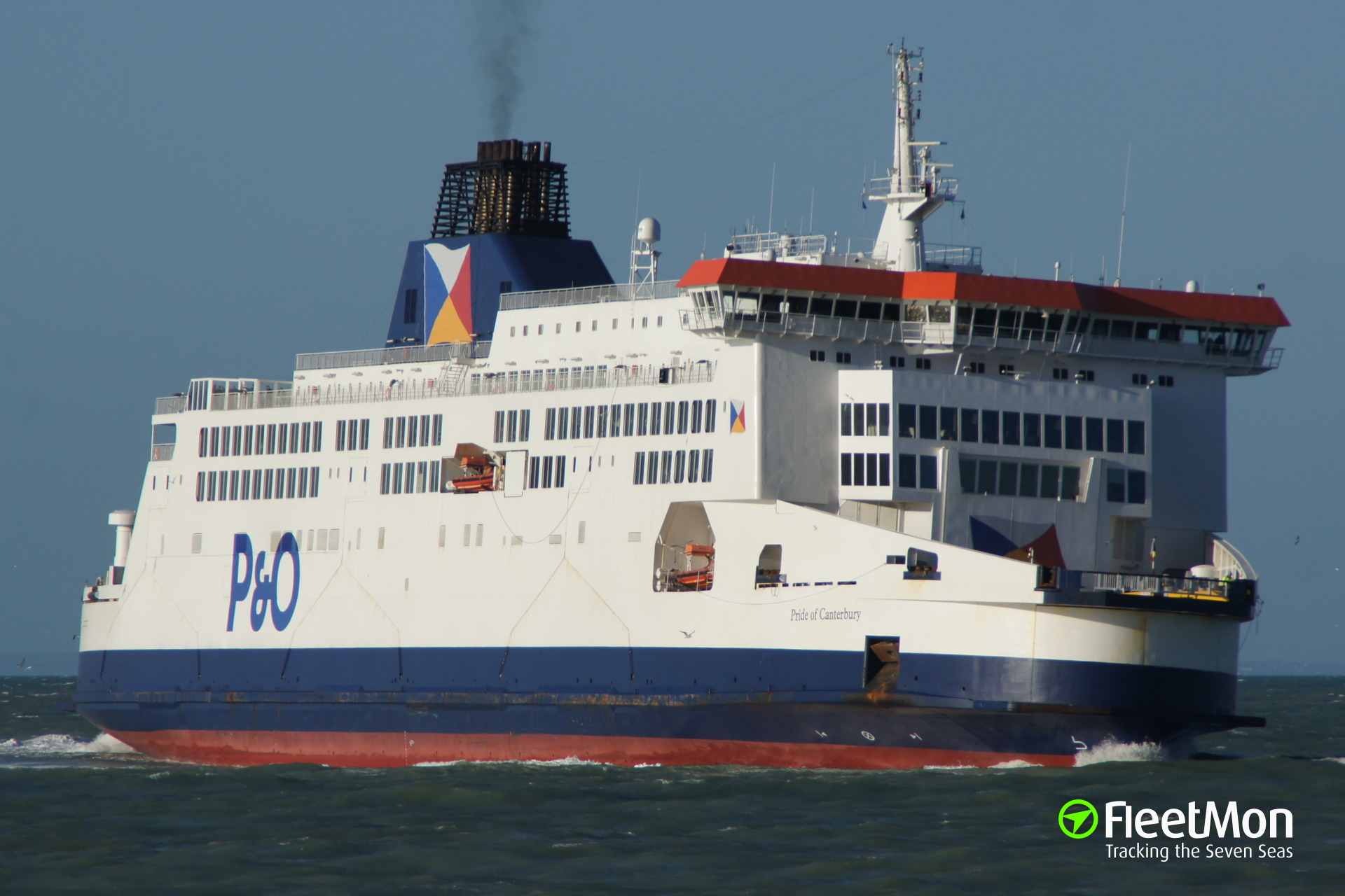 ​Ferry PRIDE OF CANTERBURY on fire