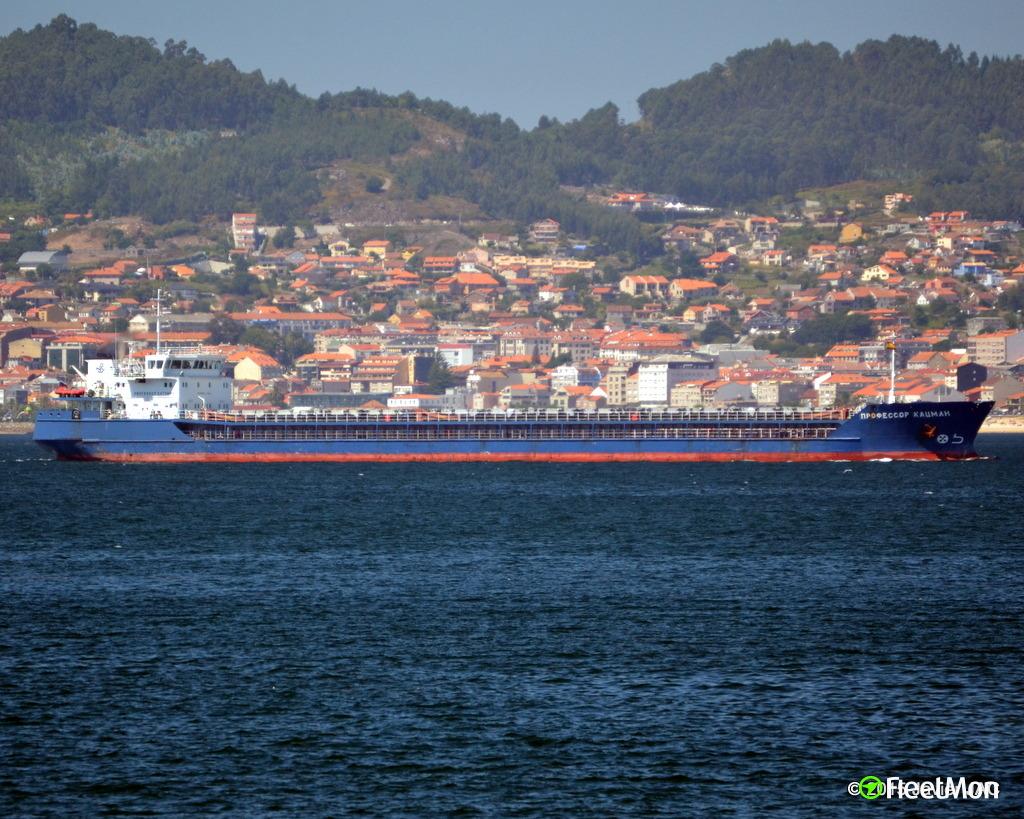 Freighter aground, river Volga