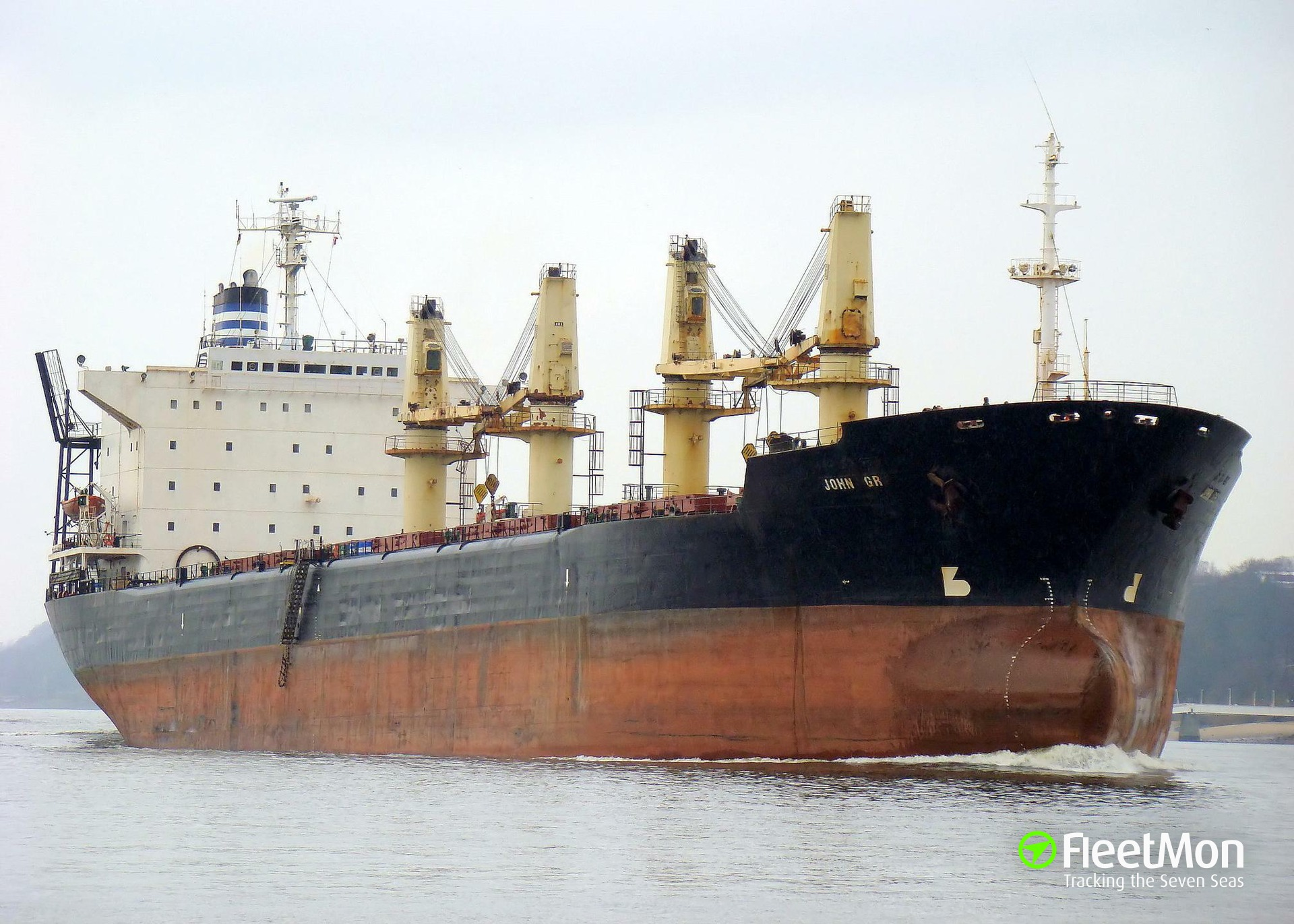 Bulk carrier Reis-G lost anchor and cable