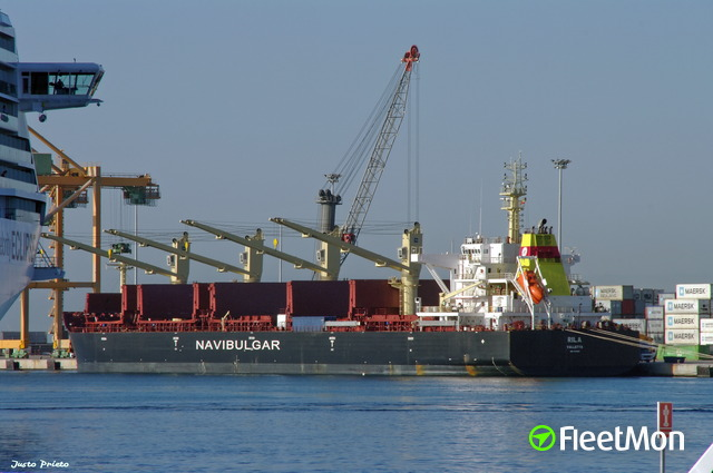 Bulk carrier RILA disabled, towage, South Atlantic