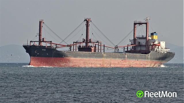 Bulk carrier aground, Russia, Black sea, VIDEO