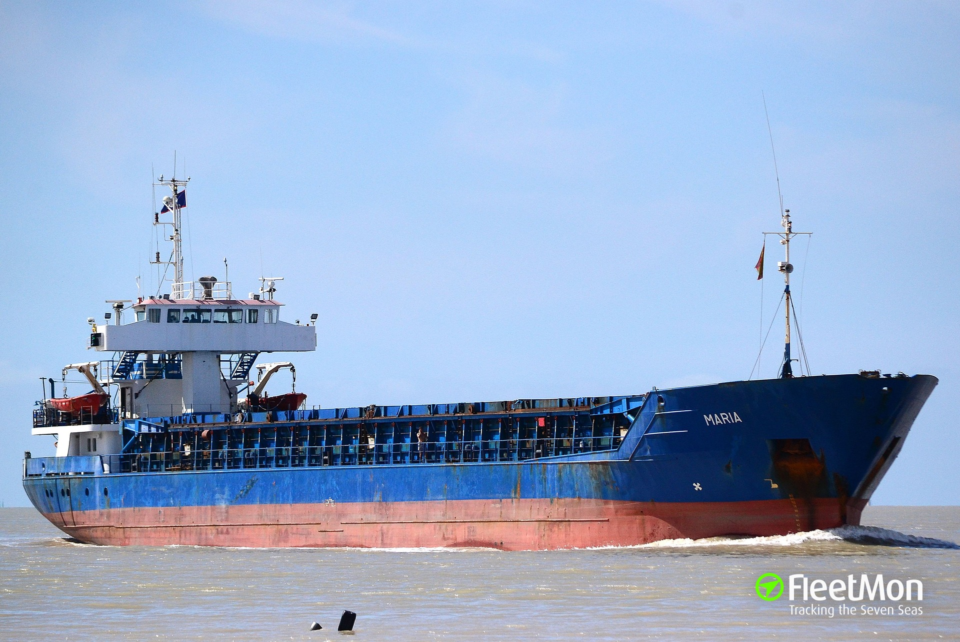 Freighter Maria allided with quay, Brake