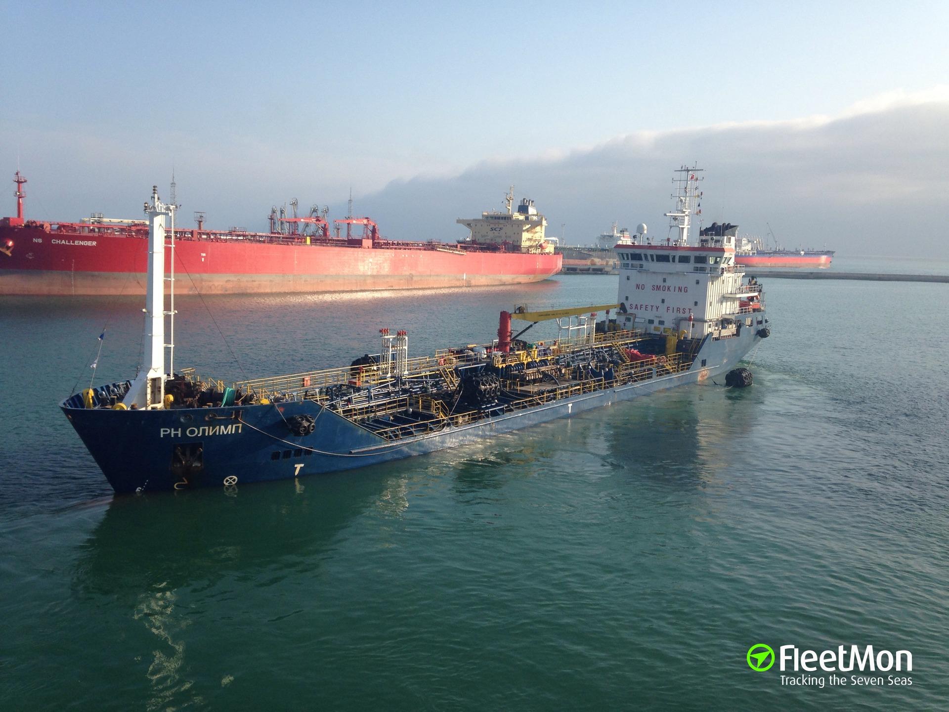 Turkish tanker Firdes under tow after engine failure, Bay of Biscay