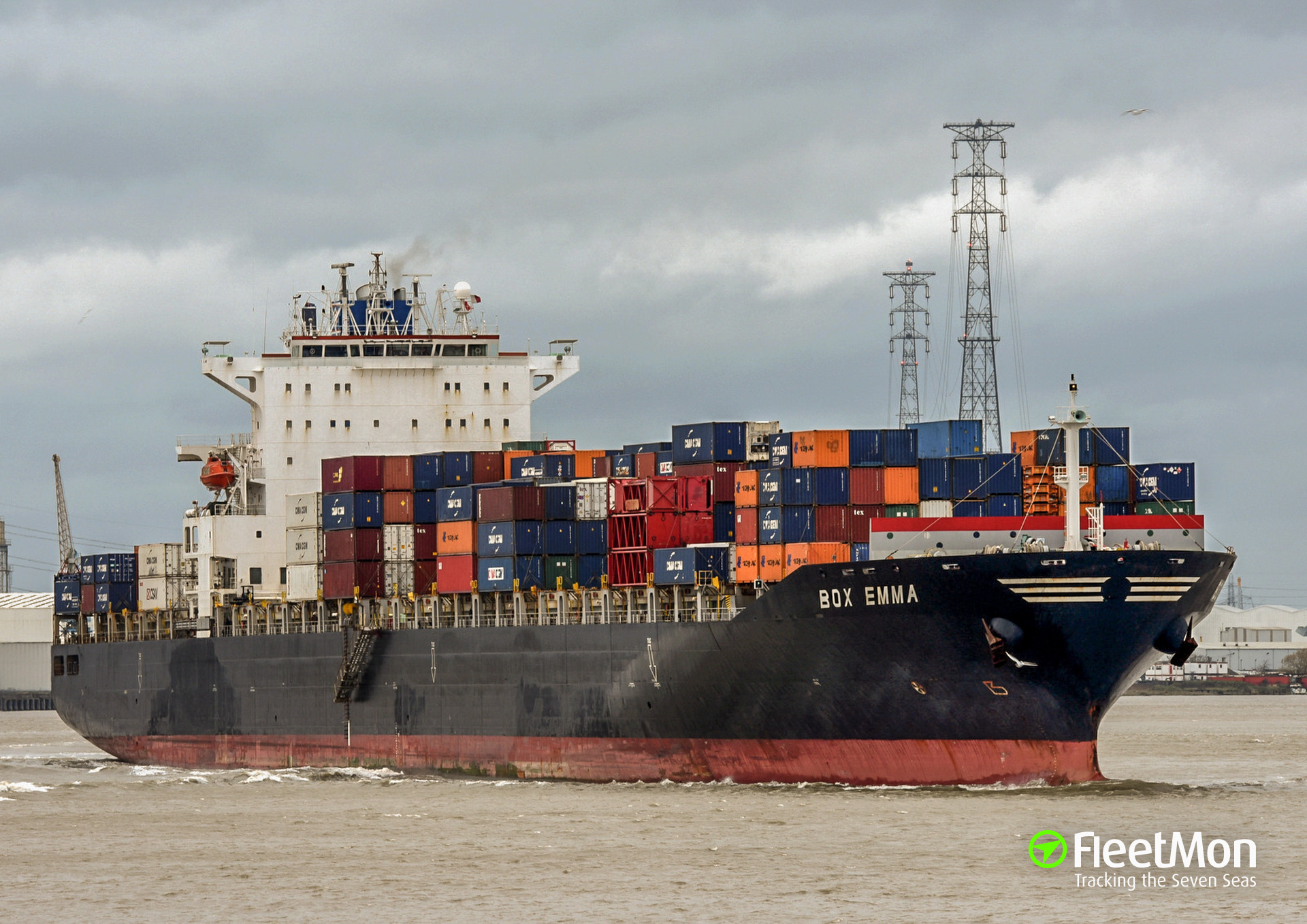 Container ship Box Emma troubled in western Malacca Strait