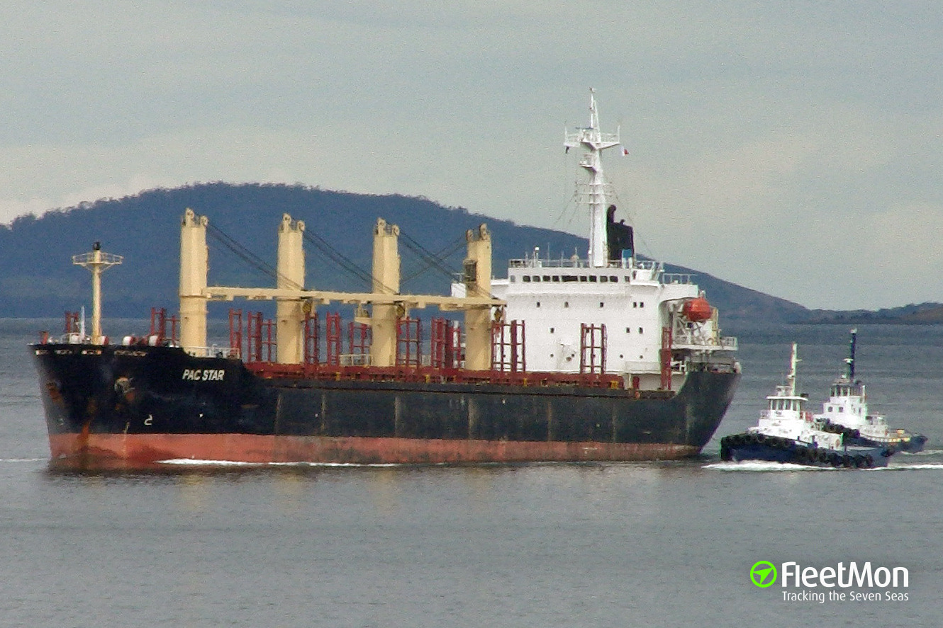 Bulk carrier Pac Star contacted bottom, Vostochniy Anchorage