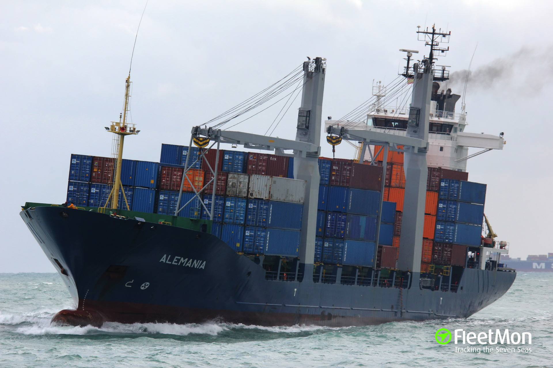 Container ship RUNNER troubled in Aegean Sea, taken on tow