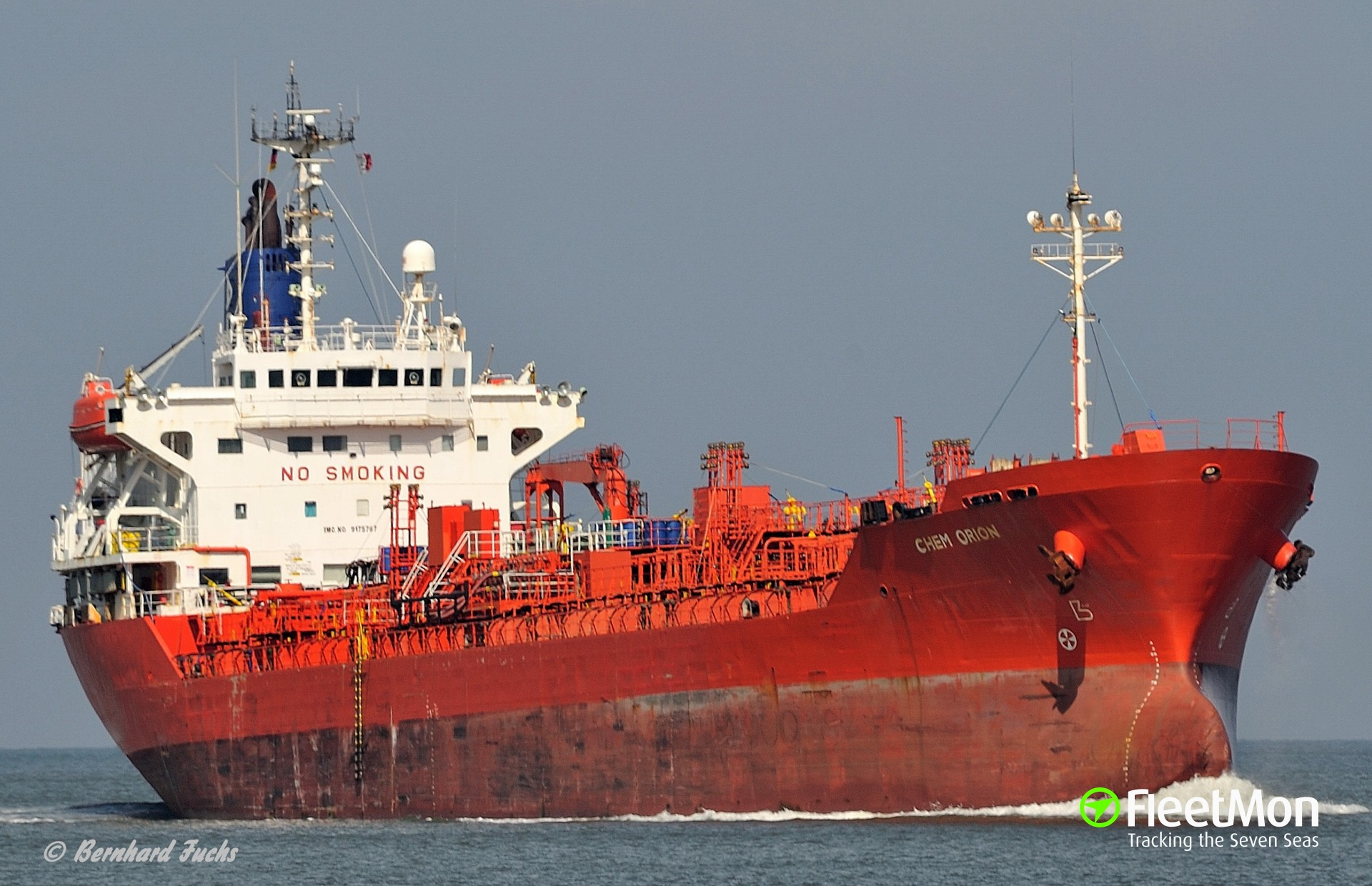 Tanker Chem Orion suffered engine failure leaving Rotterdam