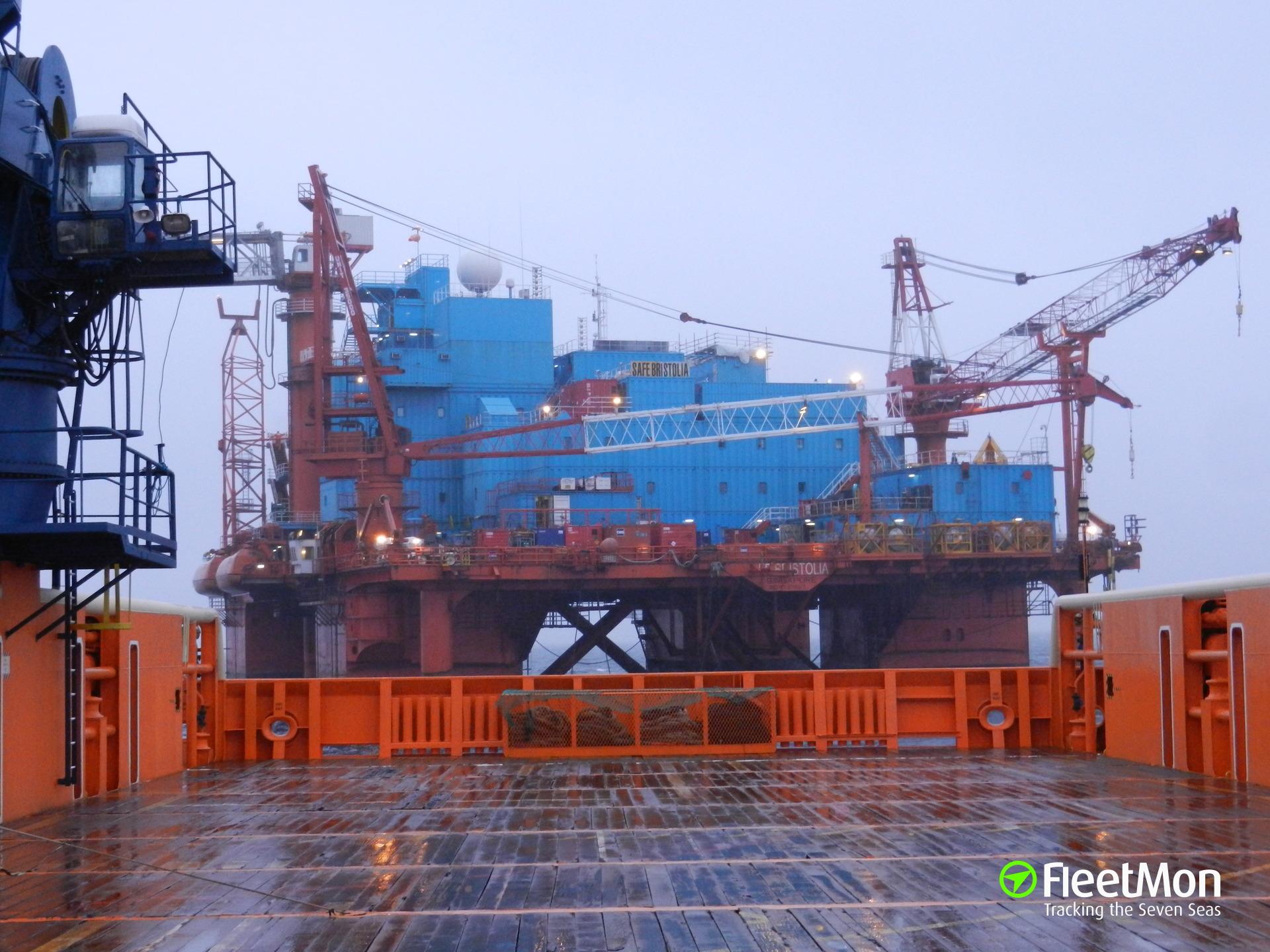 Offshore platform SAFE BRISTOLIA broke free in North sea