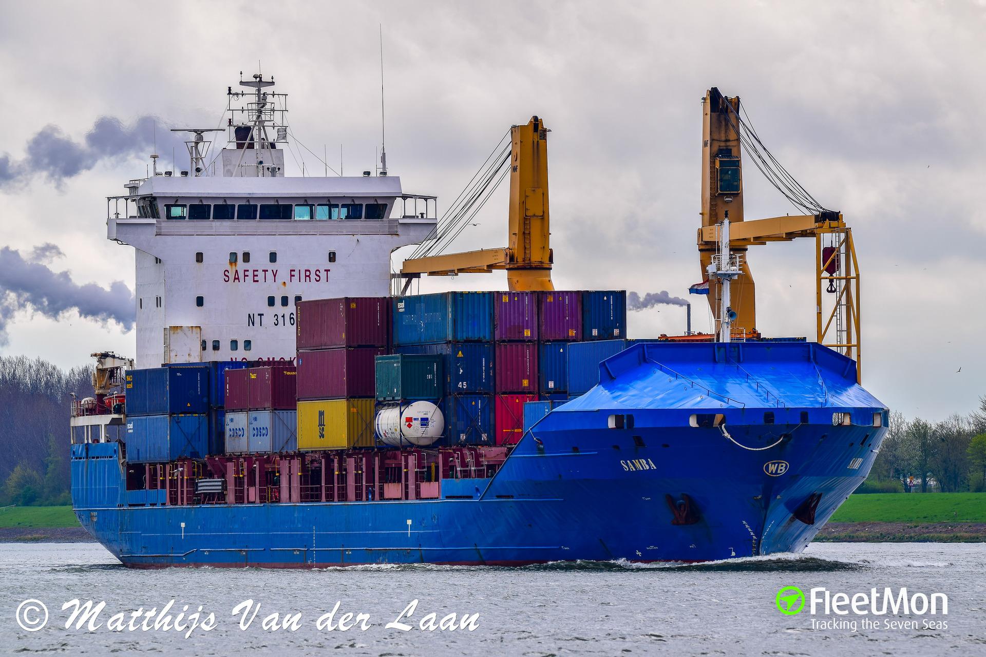 General cargo vessel Samba grounding