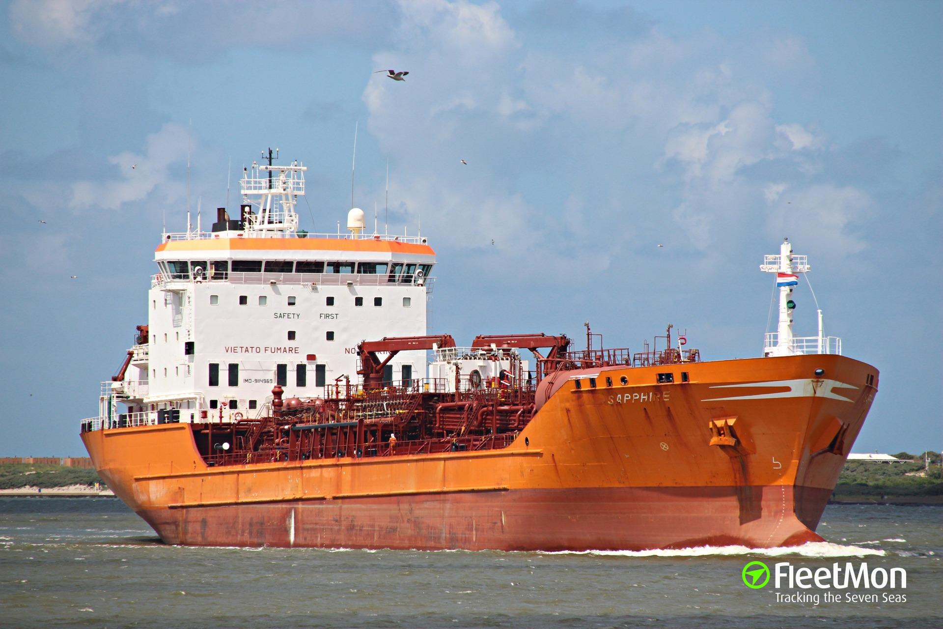 Product tanker Sapphire troubled by rudder failures