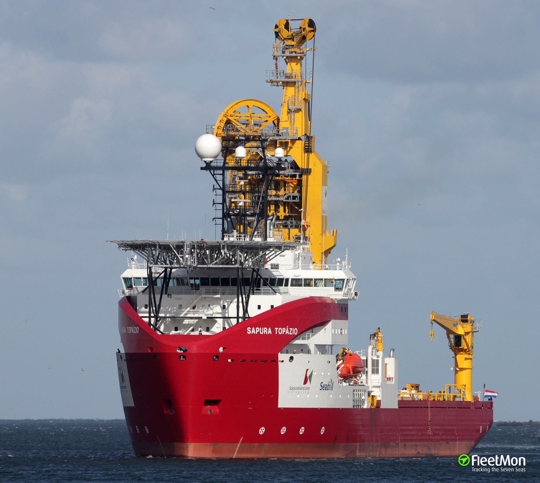 SAPURA TOPAZIO to support deep sea oilfields in Brazil
