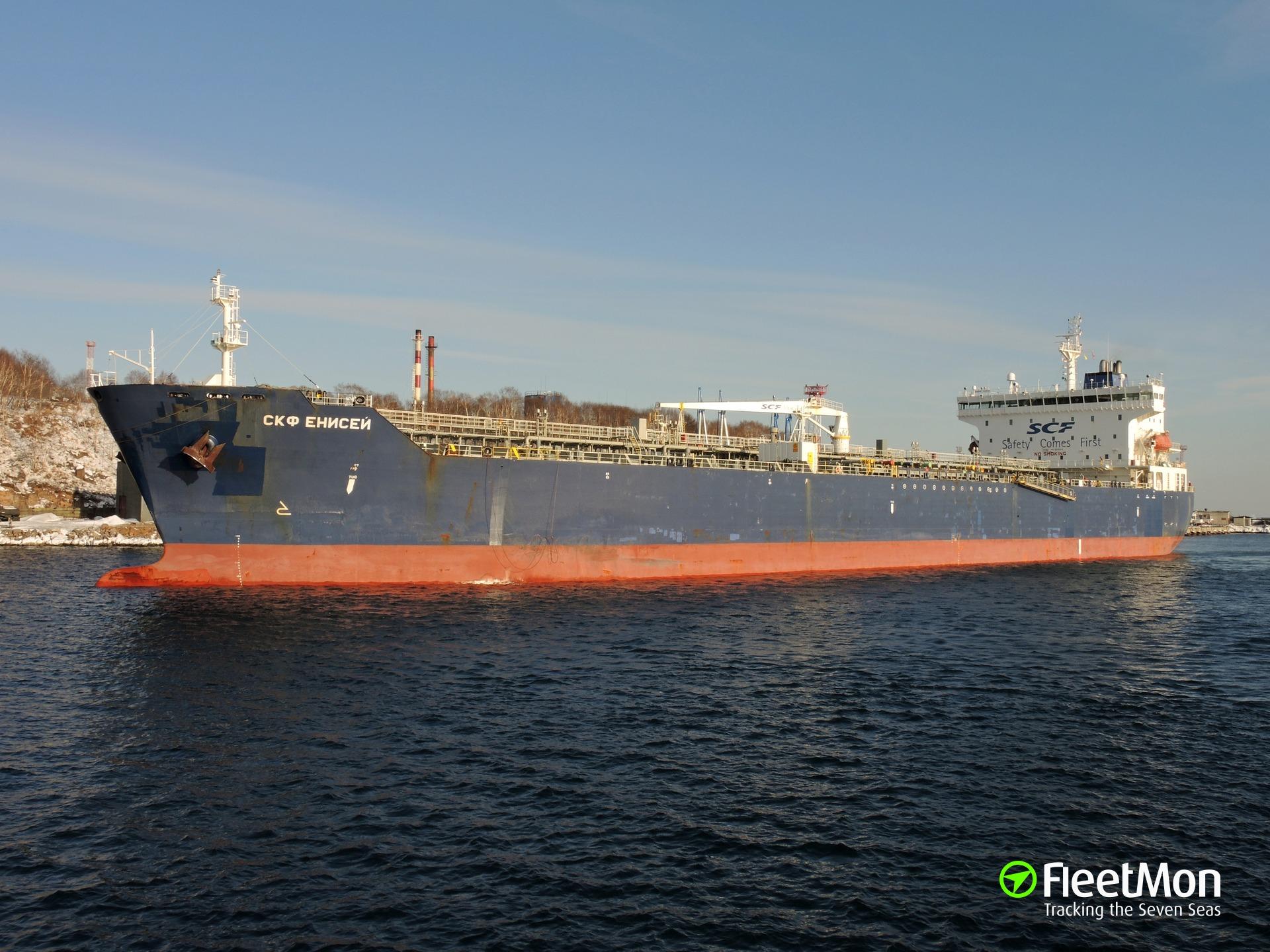 Product tanker SCF Yenisei breached, Arctic
