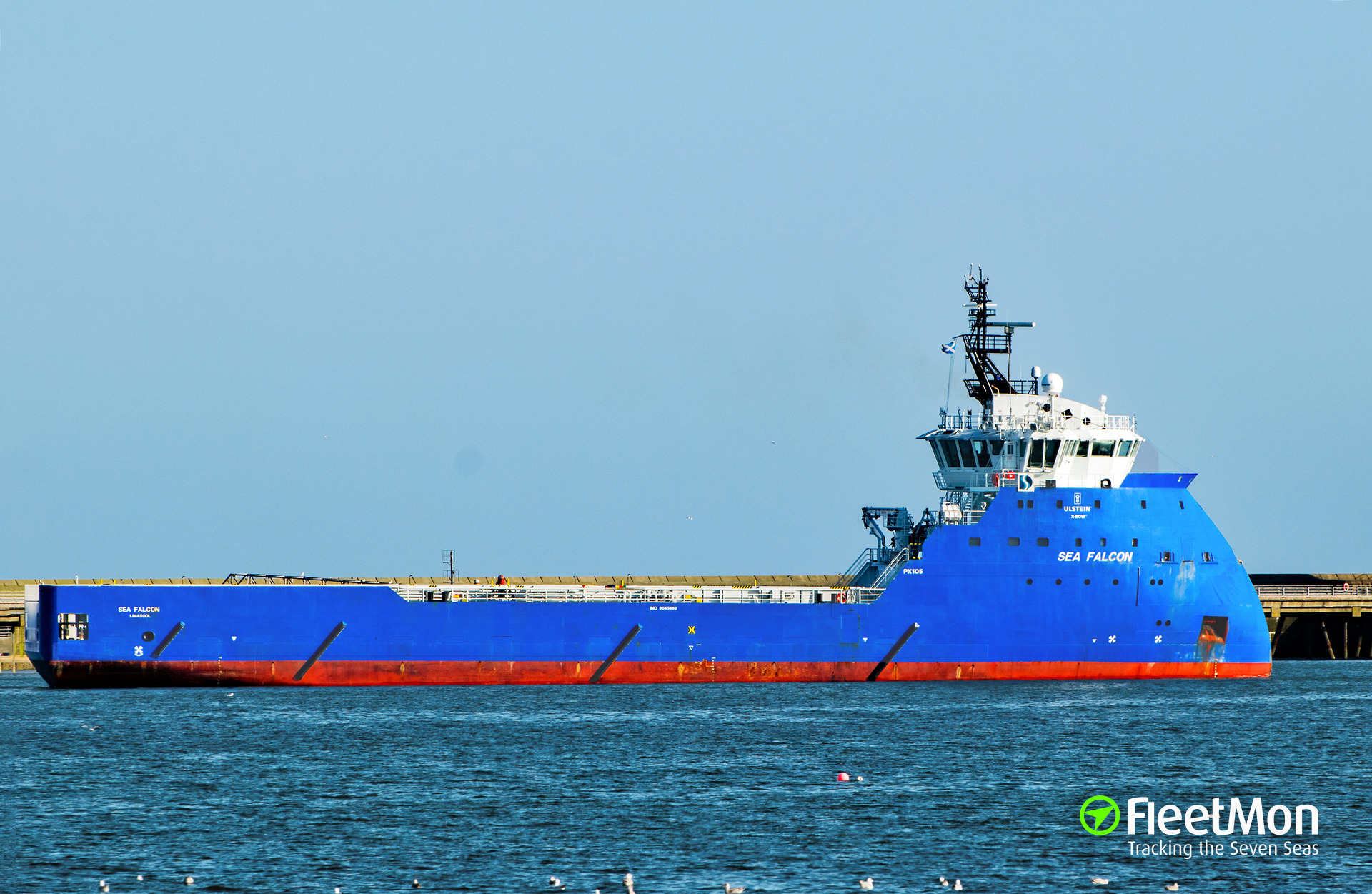 PSV Sea Falcon allided with an oil platform, North sea