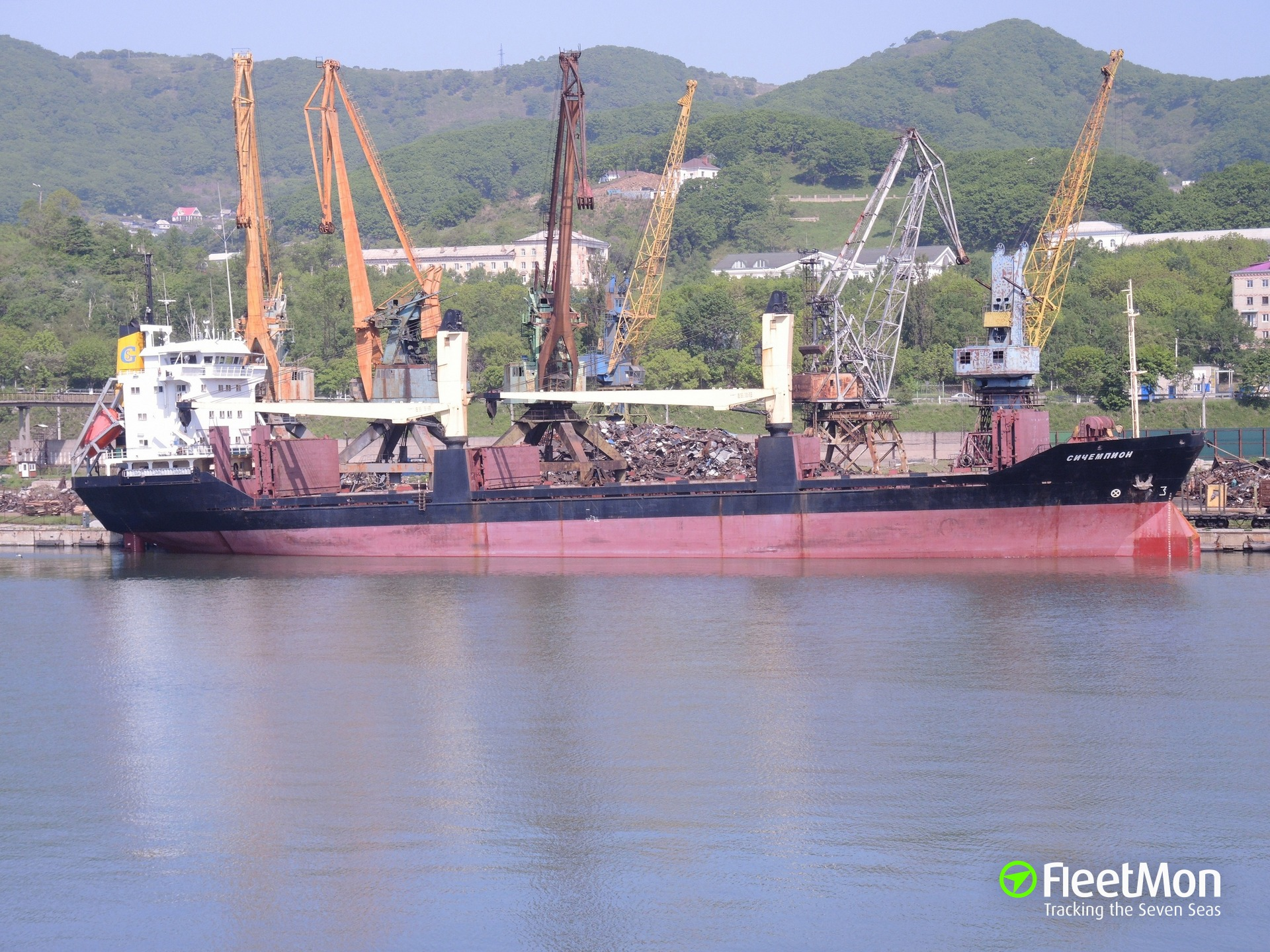 Freighter Seachampion towed to Vladivostok after fire