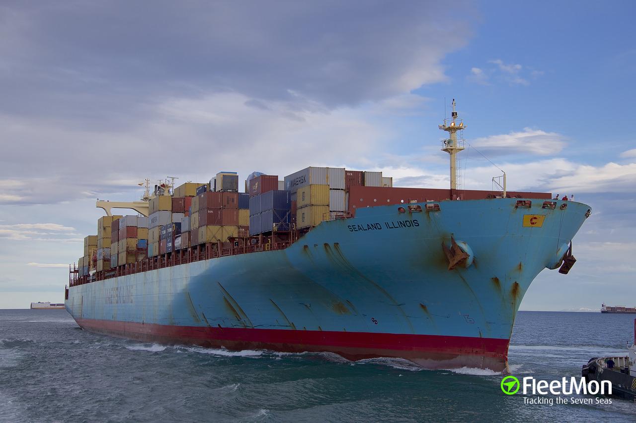 Vessel SEALAND ILLINOIS (Container ship) IMO 9197545, MMSI