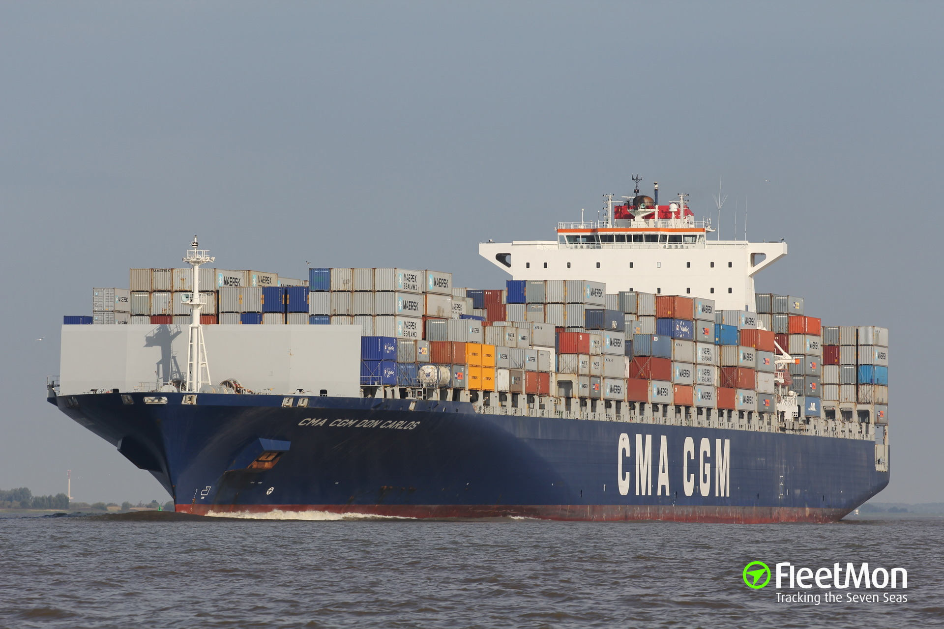Container ship CMA CGM DON CARLOS close miss