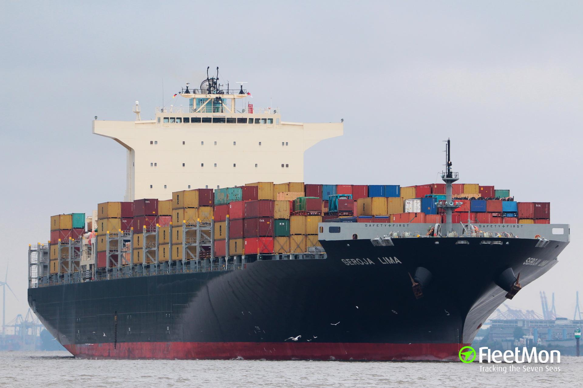 Boxship Seroja Lima lost 23 containers