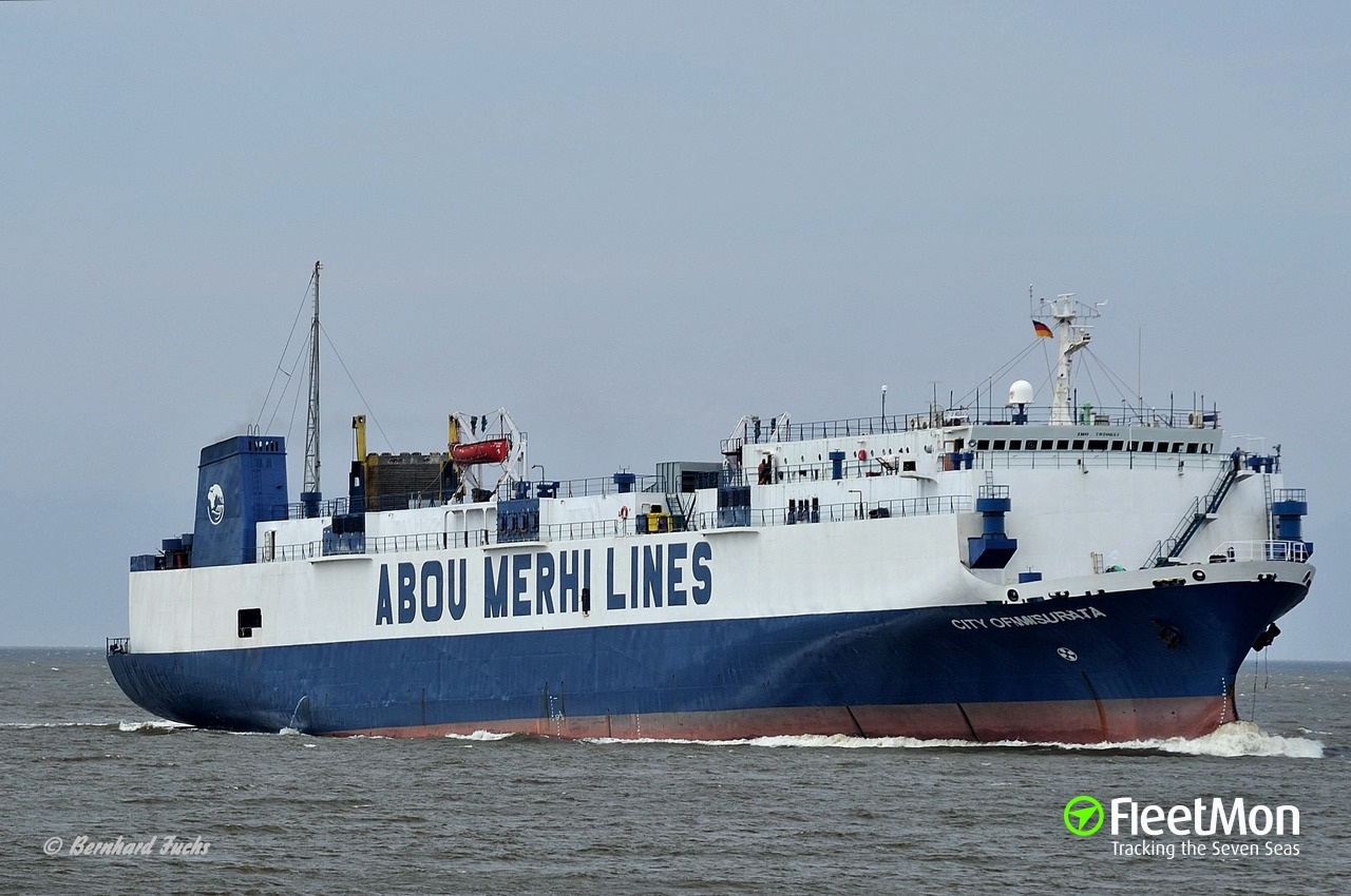 Vessel SHAM 1 (RoRo ship) IMO 7920857, MMSI 450568000