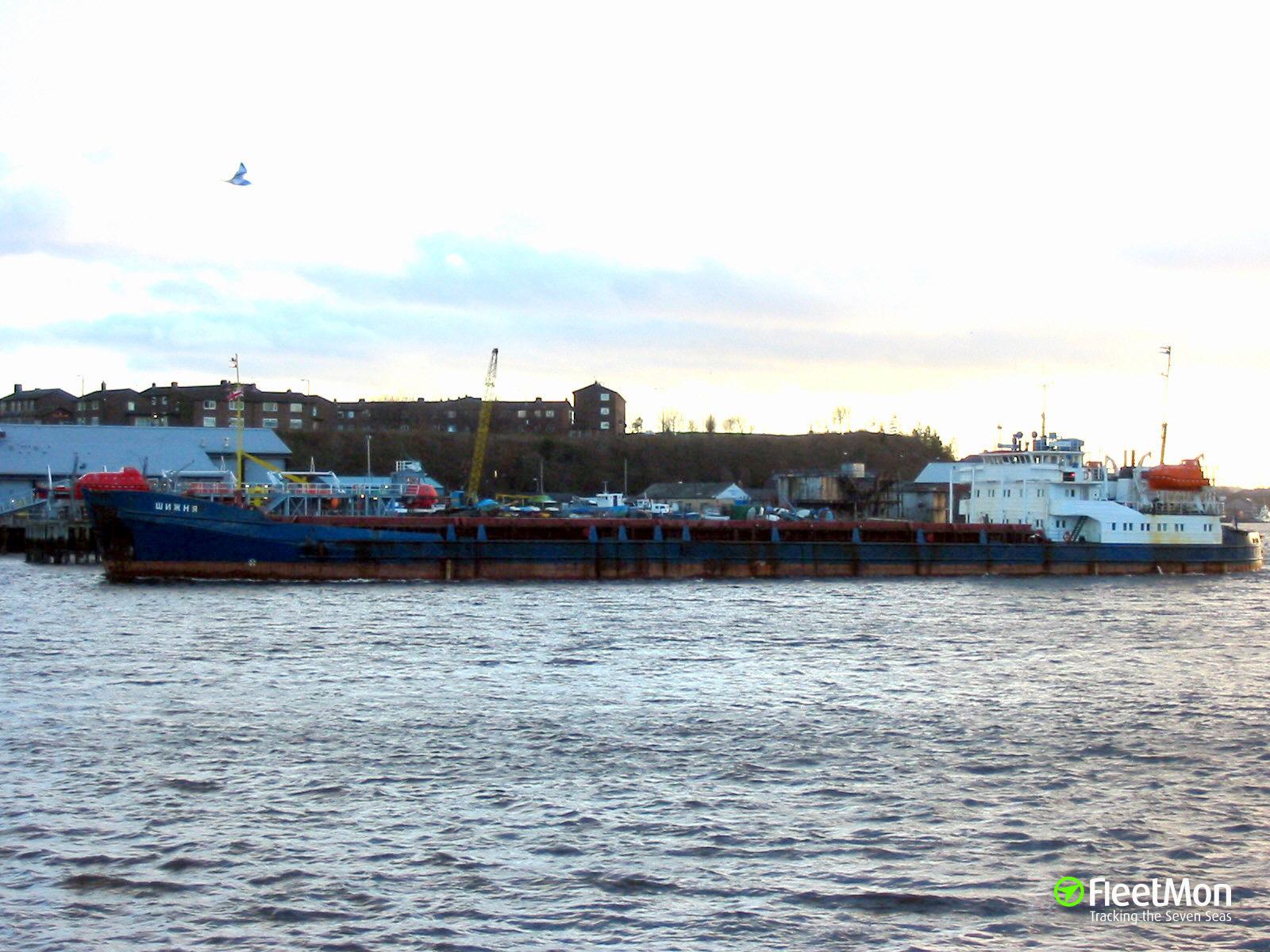 Freighter SHIZHNYA aground, Caspian Sea